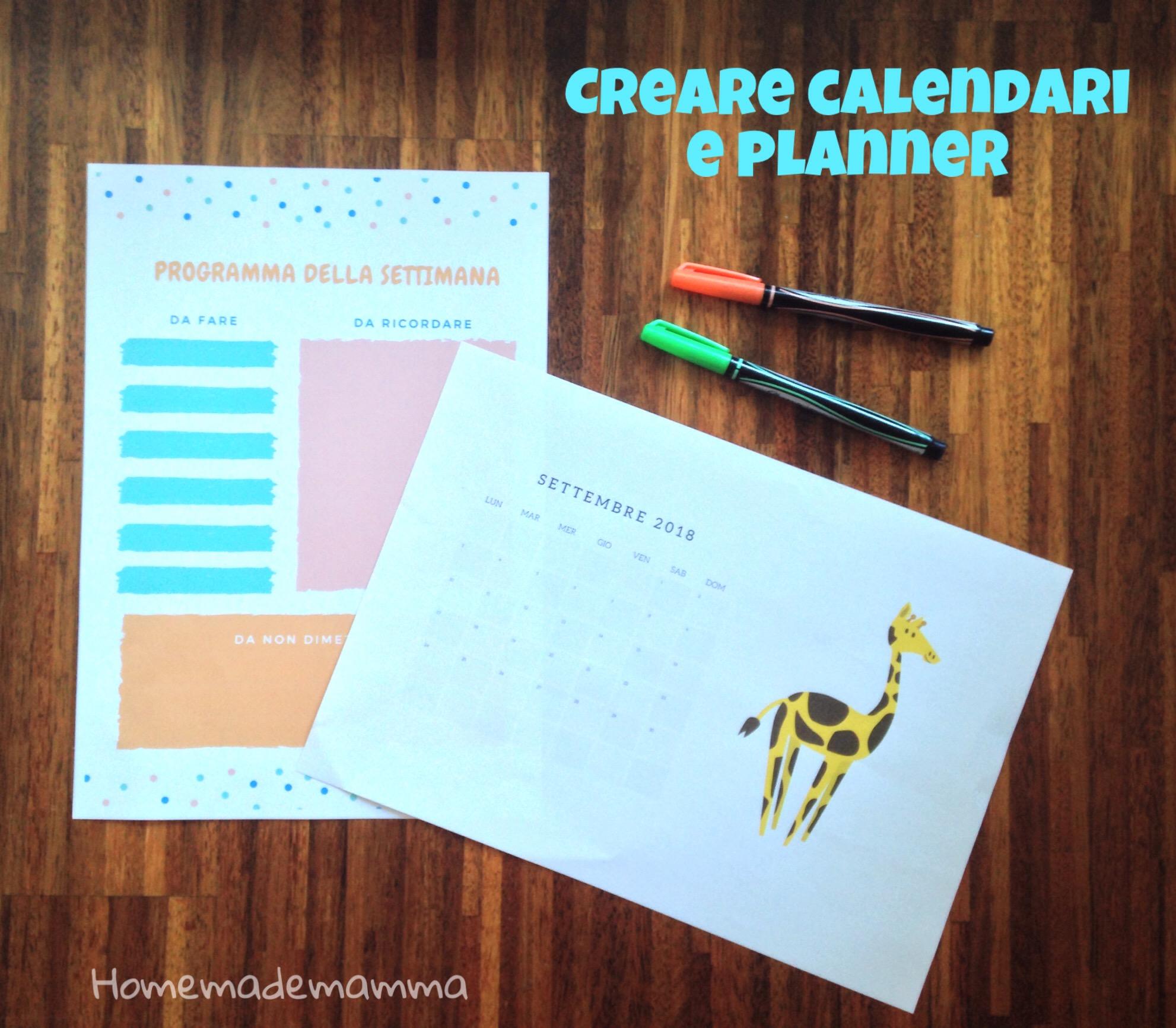 calendario scolastico e planner