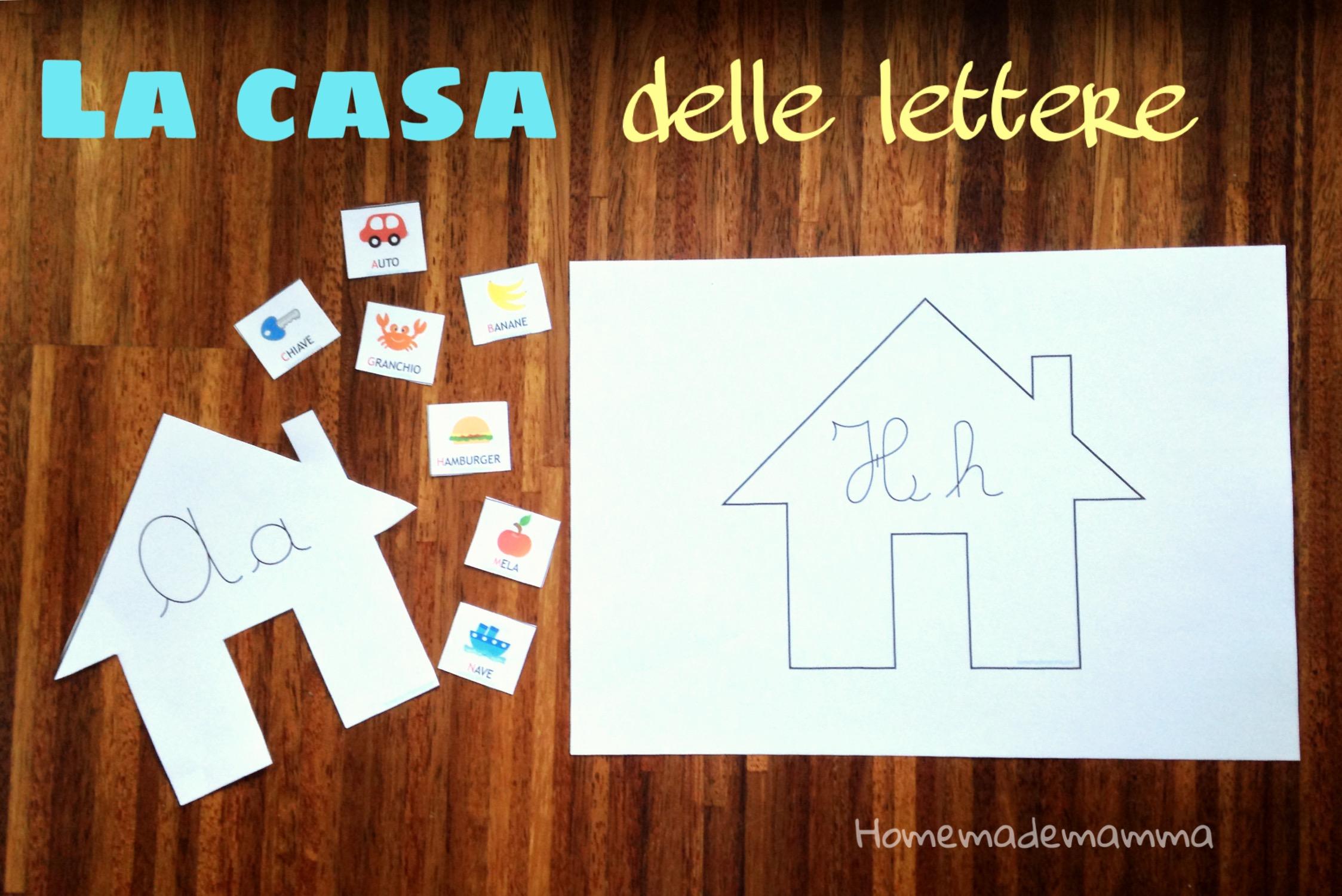 La casa delle lettere per imparare l'alfabetoLa casa delle lettere per imparare l'alfabeto