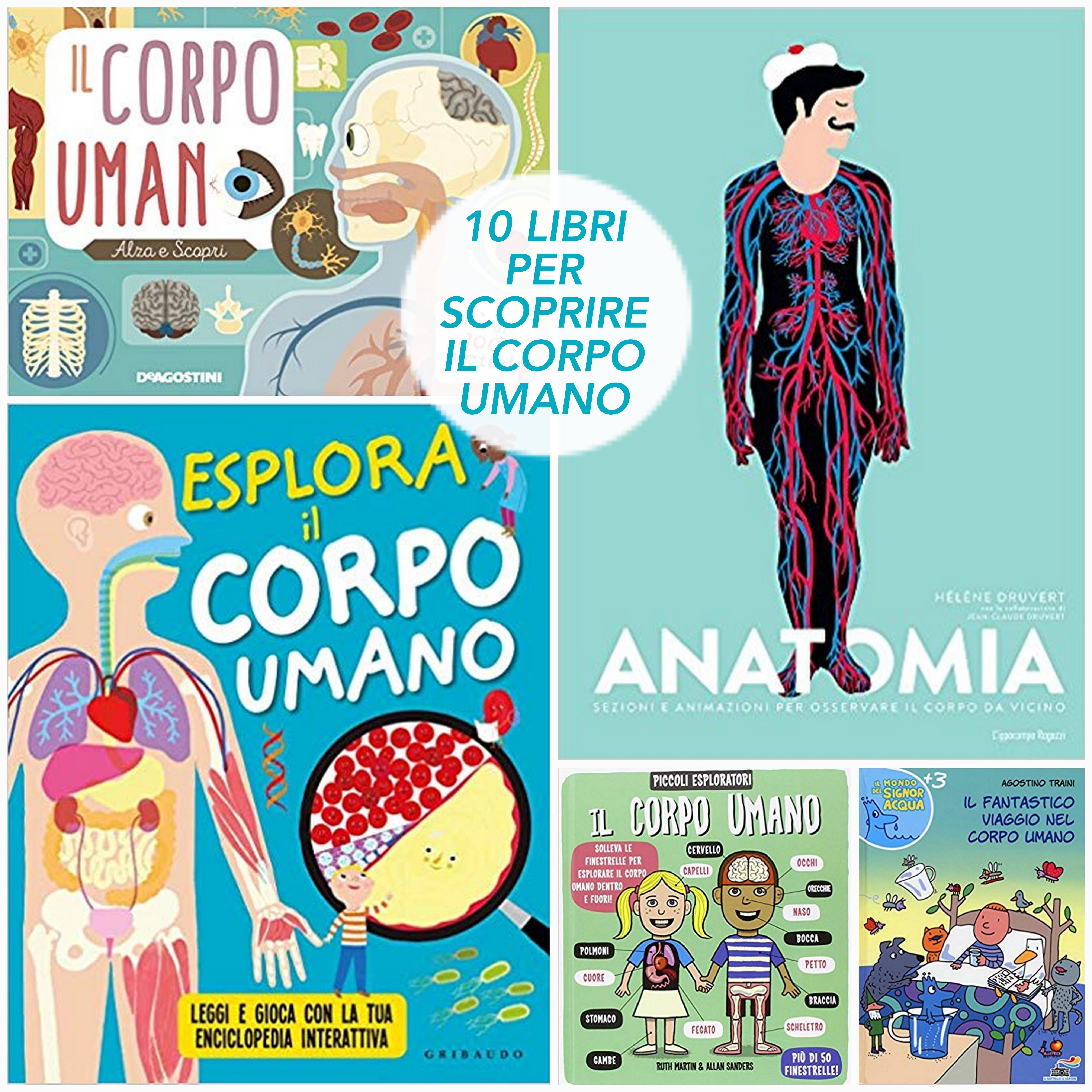 10 libri PER SCOPRIRE IL CORPO UMANO