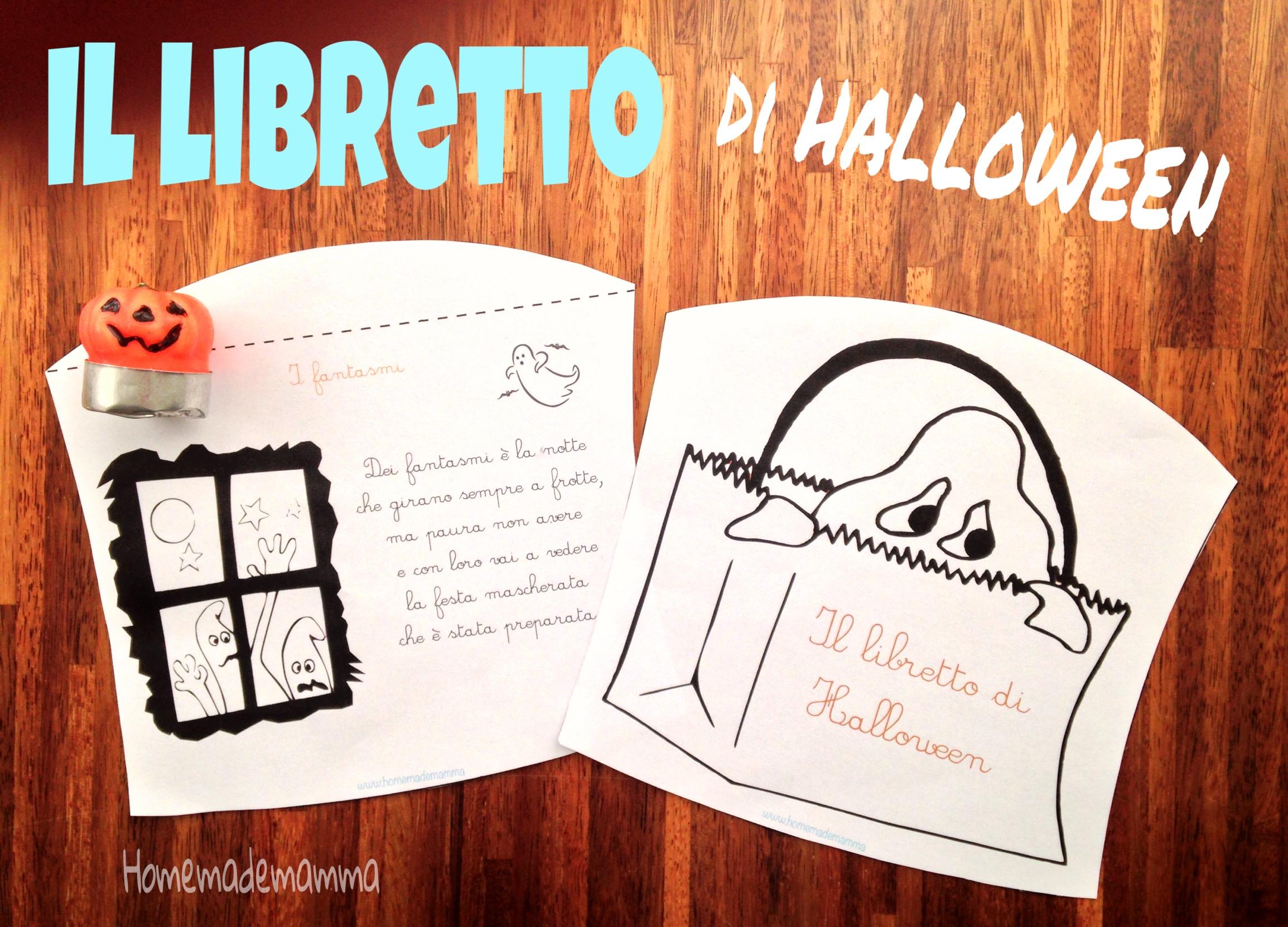 libretto halloween colorare con filastrocche