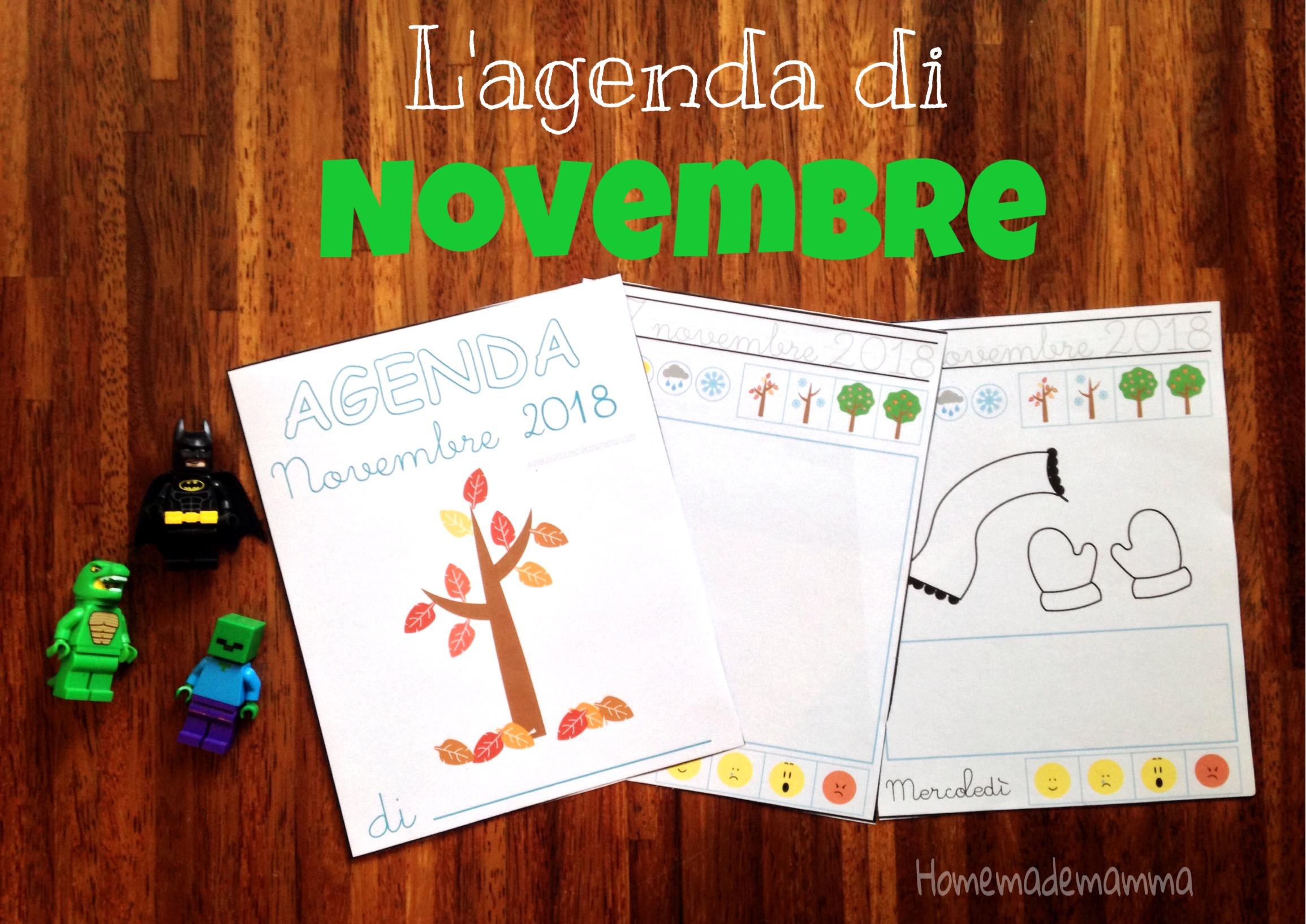 agenda novembre bambini stampare
