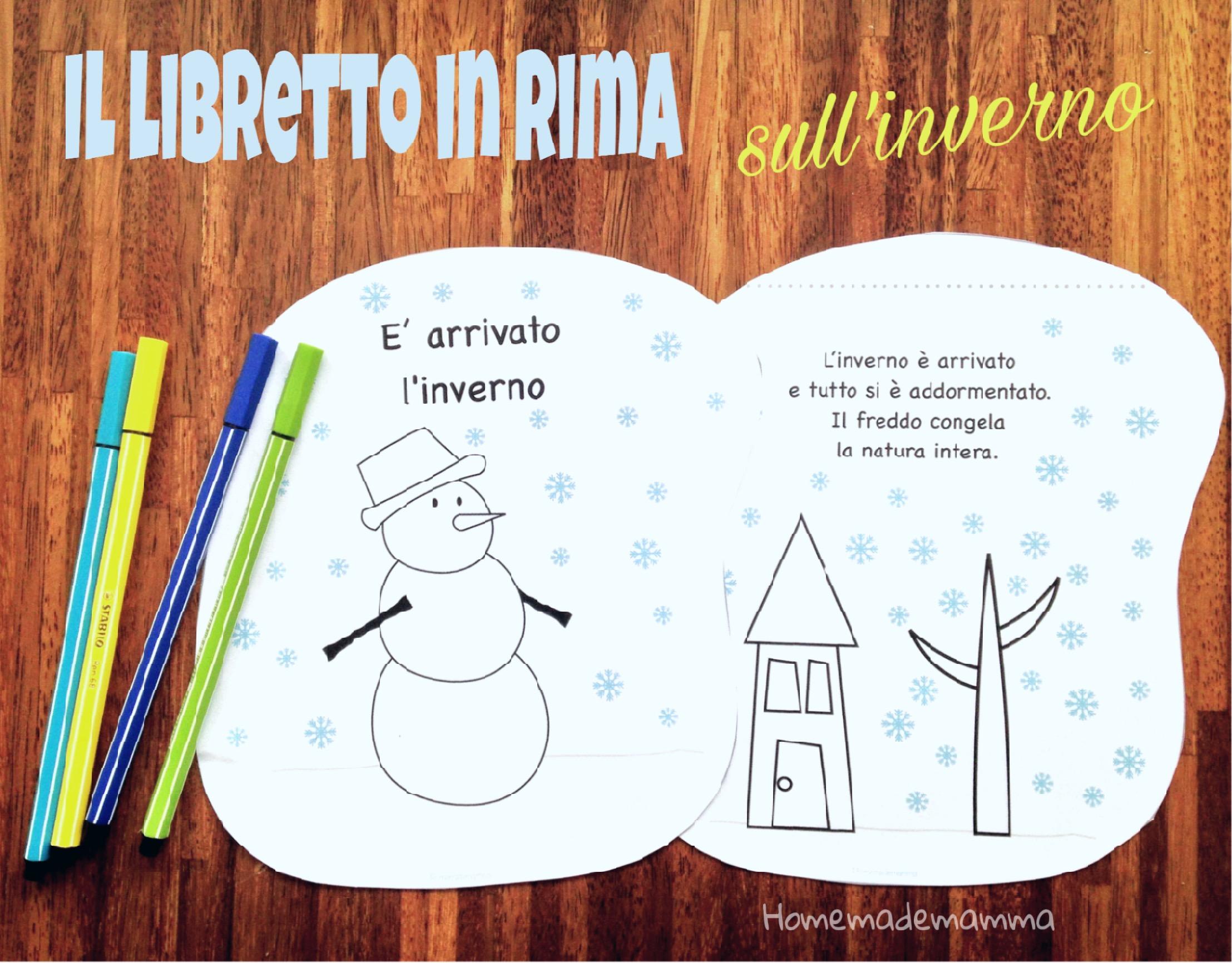 E Arrivato L Inverno Un Libretto In Rima Da Colorare