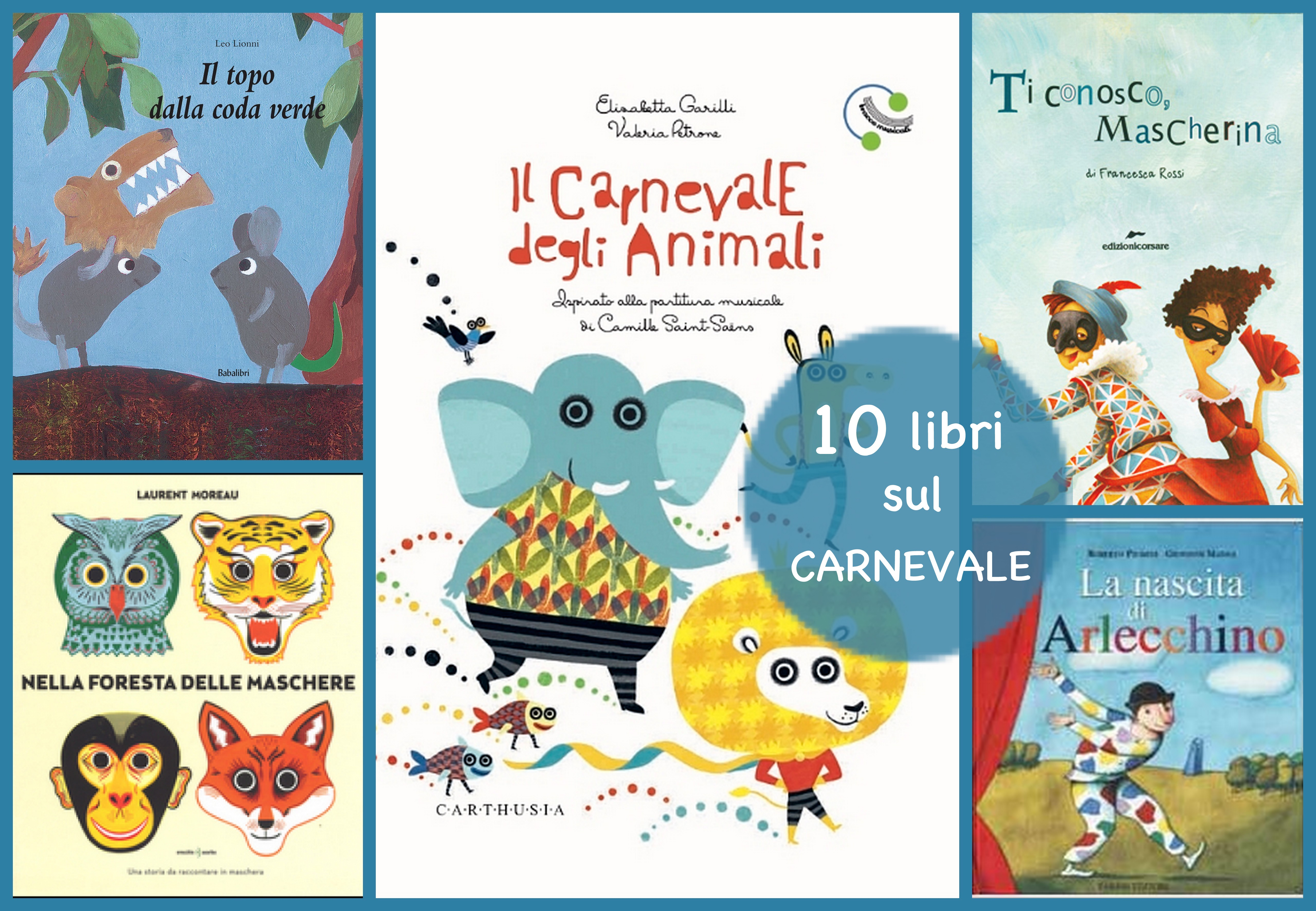 10 libri SUL carnevale
