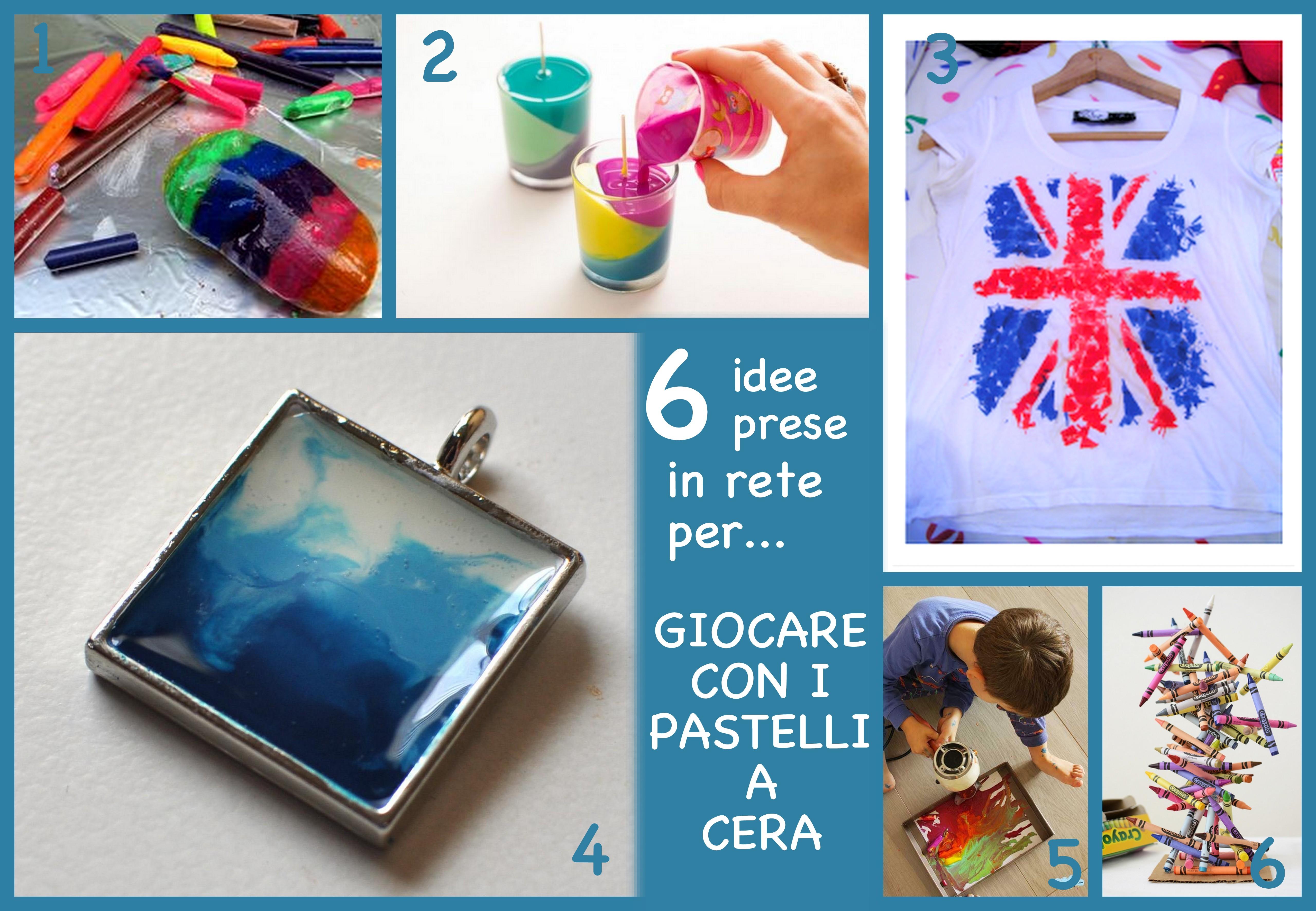 6 idee per giocare e riciclare pastelli a cera