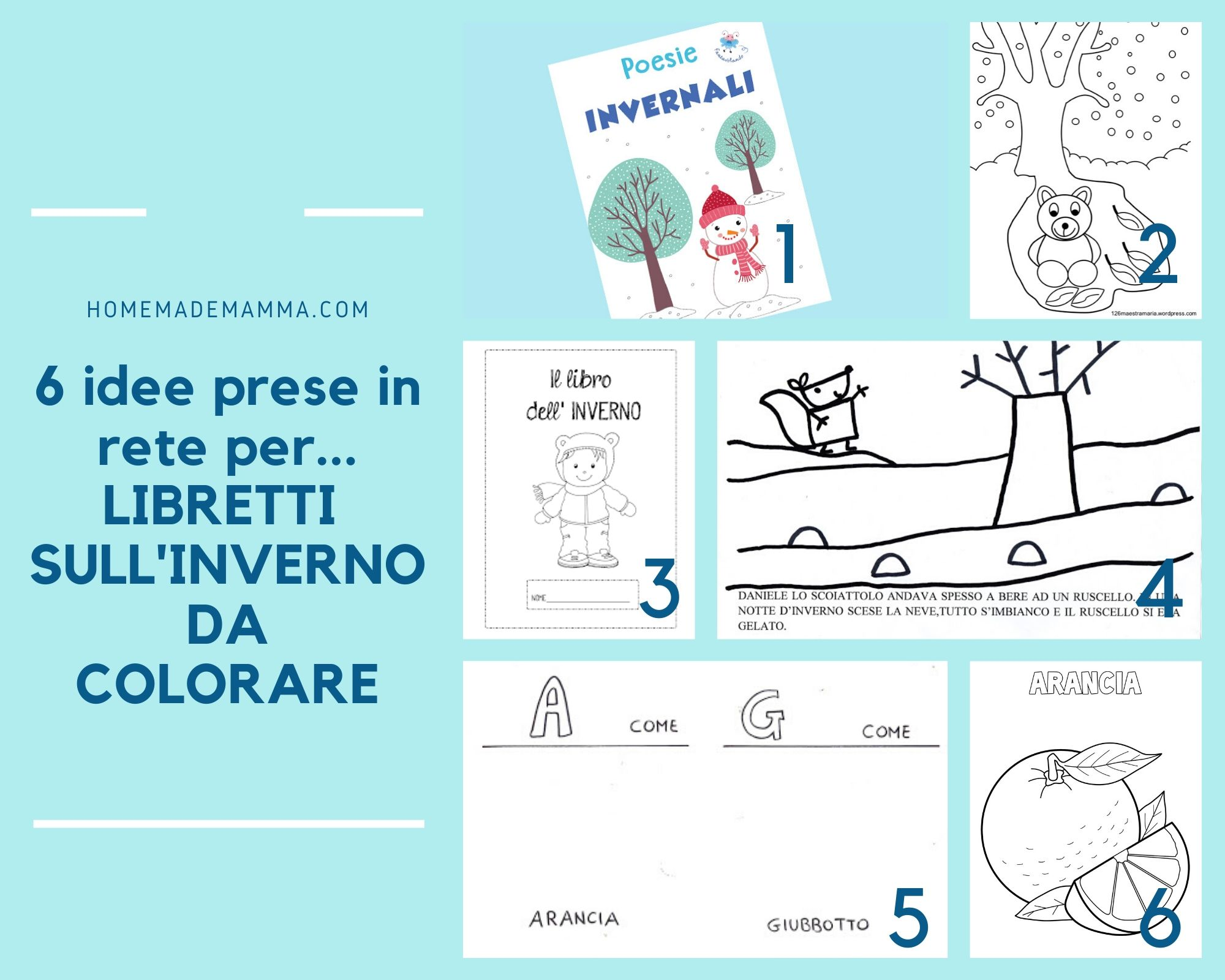 6 Idee Prese In Rete Per Libretti Sull Inverno Da Colorare