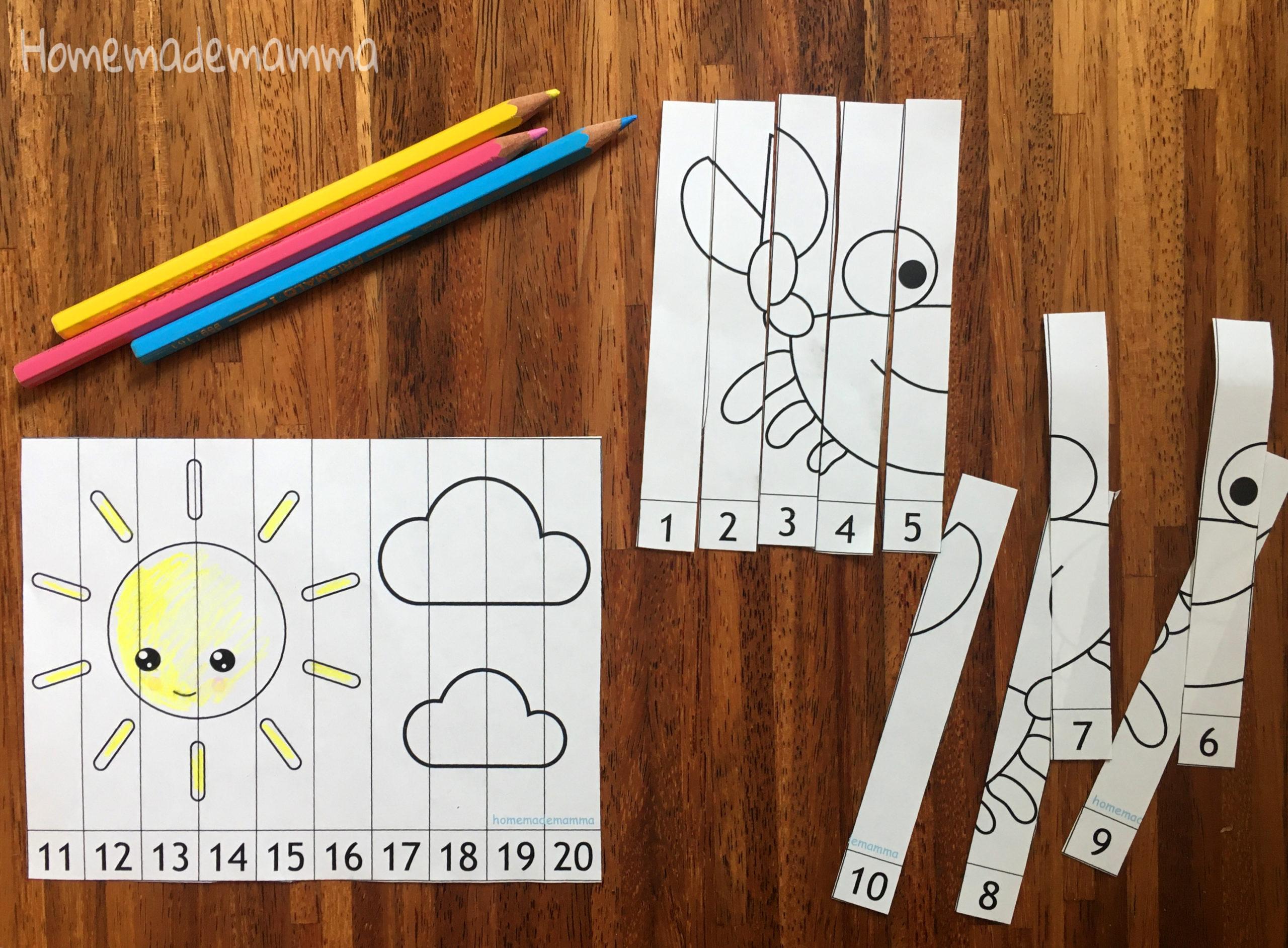 I puzzle da colorare per imparare i numeri