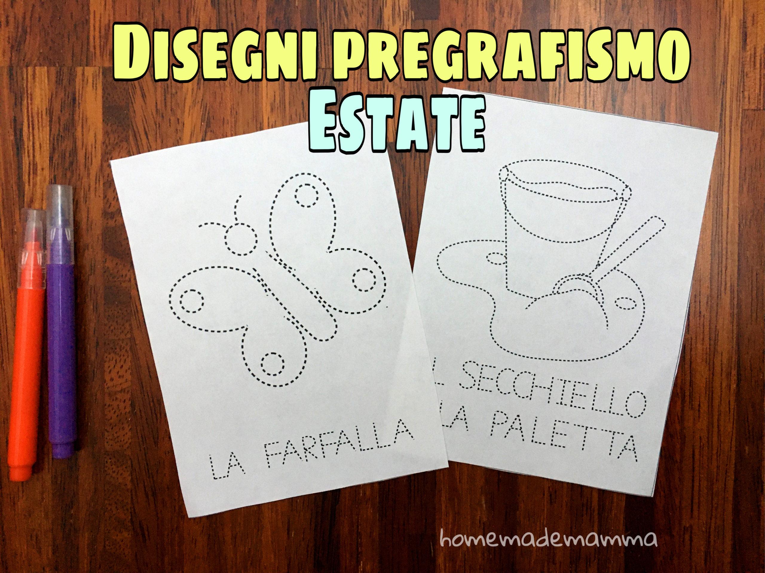 Disegni Di Pregrafismo Per L Estate Da Ricalcare E Colorare
