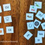 Il domino e il memory delle sillabe