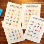 A caccia di sillabe: un libretto per imparare le sillabe