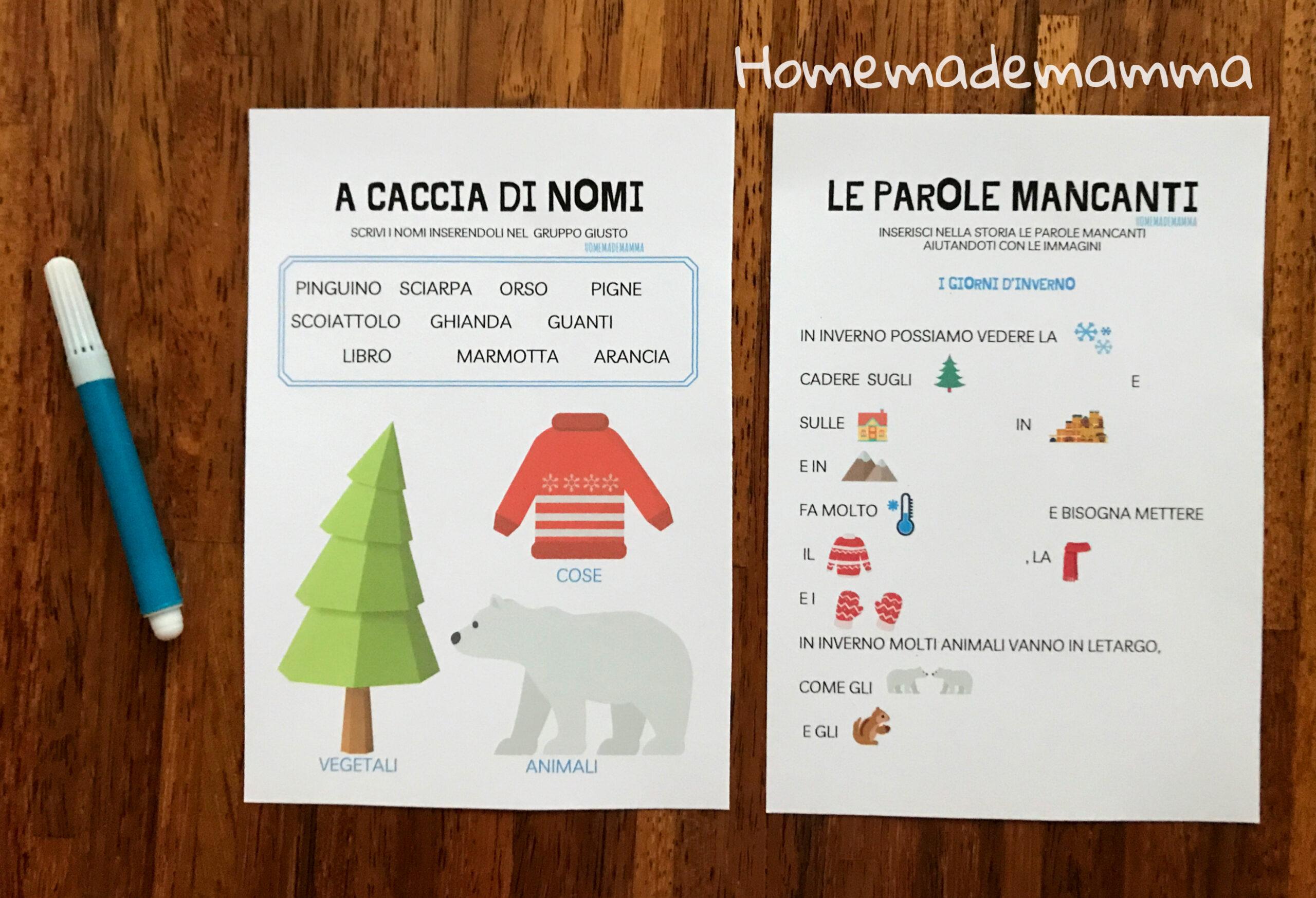 Schede inverno italiano