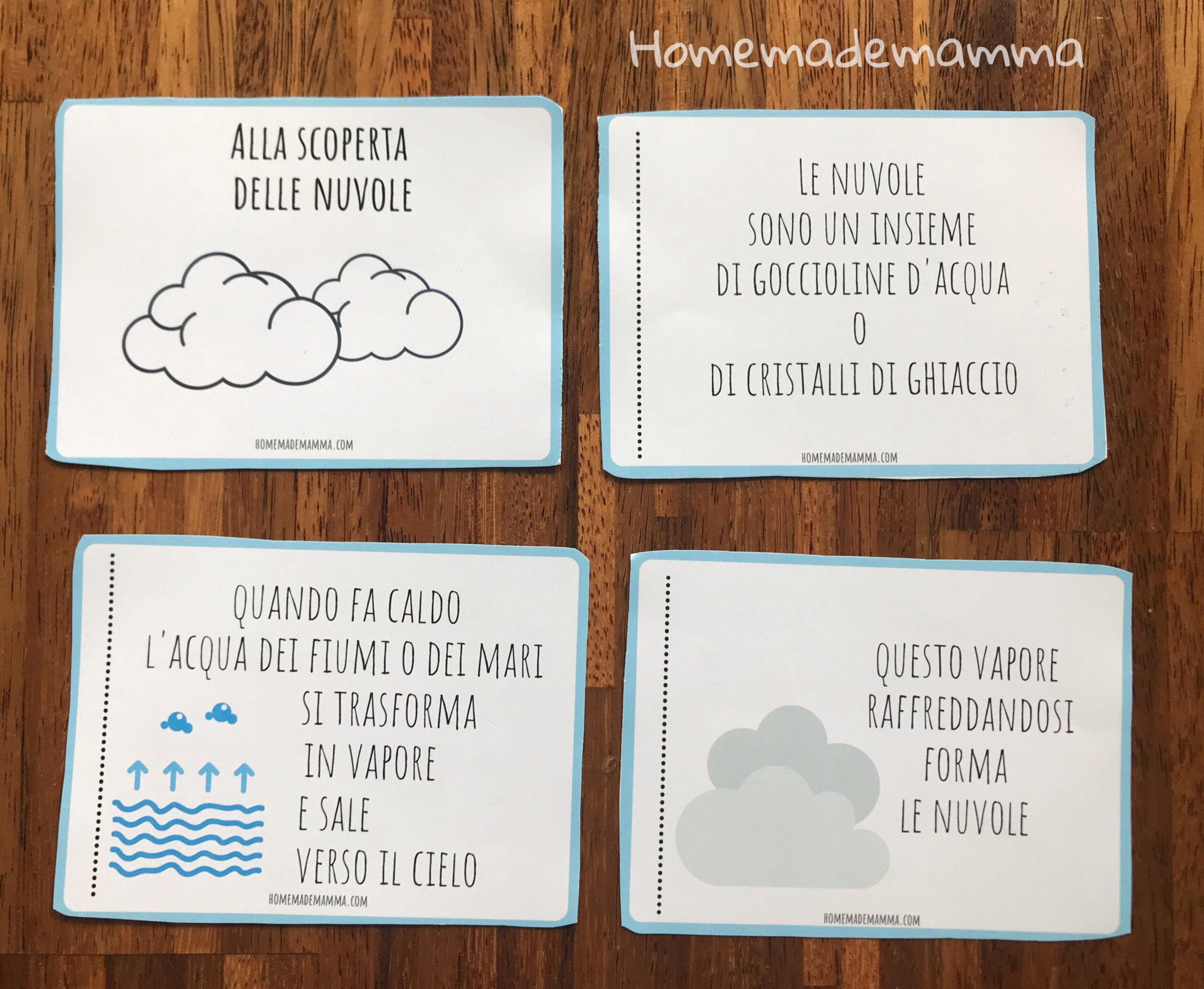 Libretto per scoprire le nuvole Da stampare