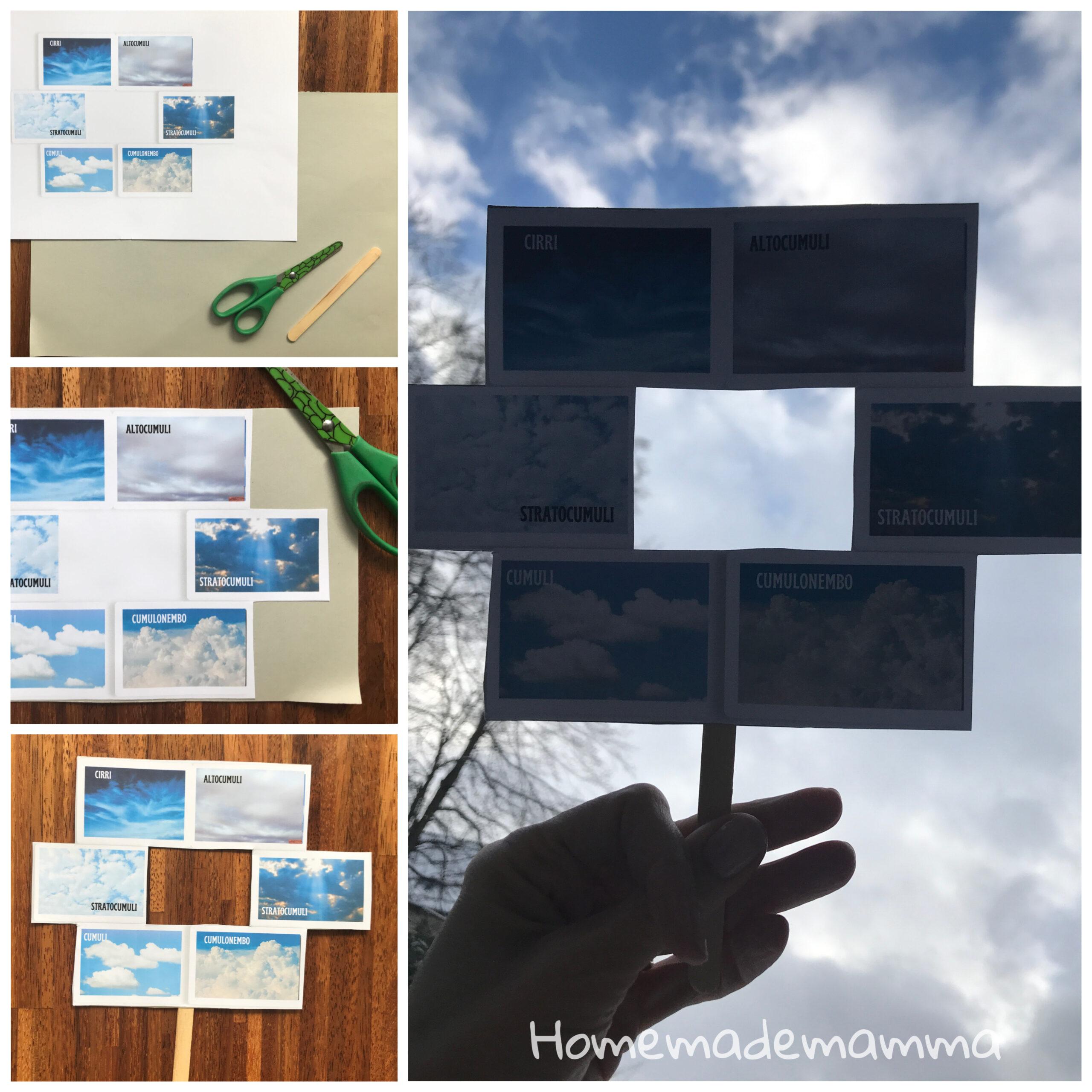 Attività bambini per scoprire le nuvole
