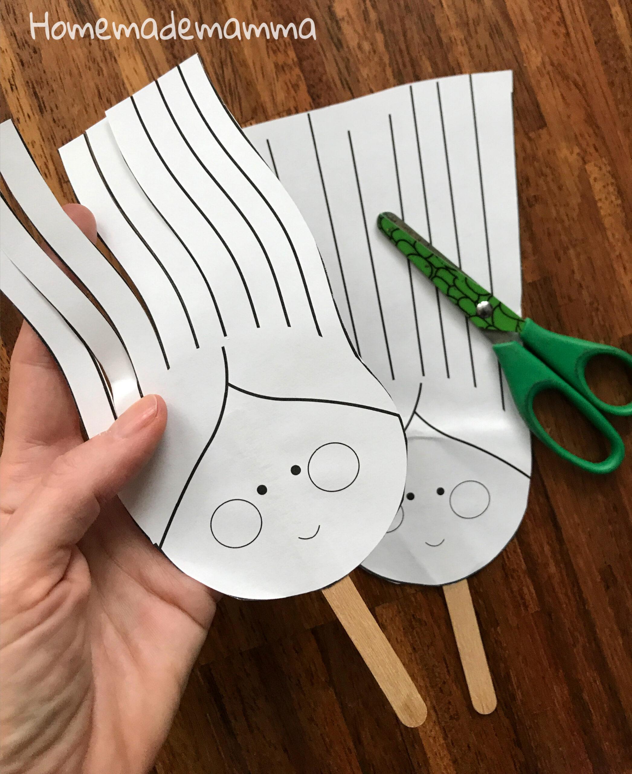 Gioco da stampare per usare le forbici