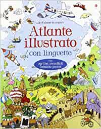 Atlante illustrato con linguette per bambini