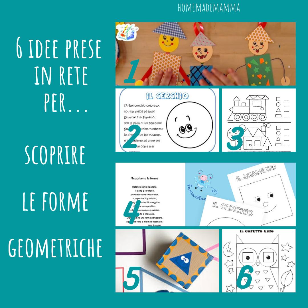Idee prese in rete per scoprire le forme geometriche bambini