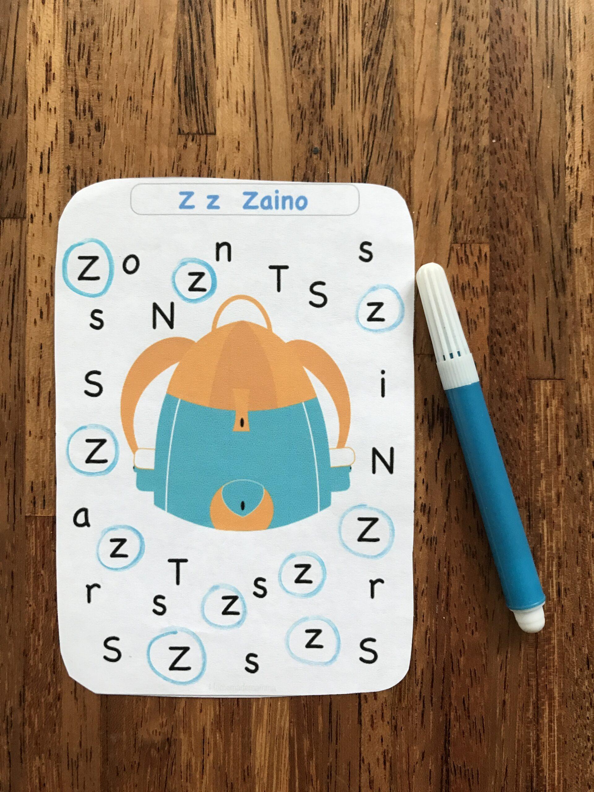 carte per imparare l'alfabeto stampatello da stampare
