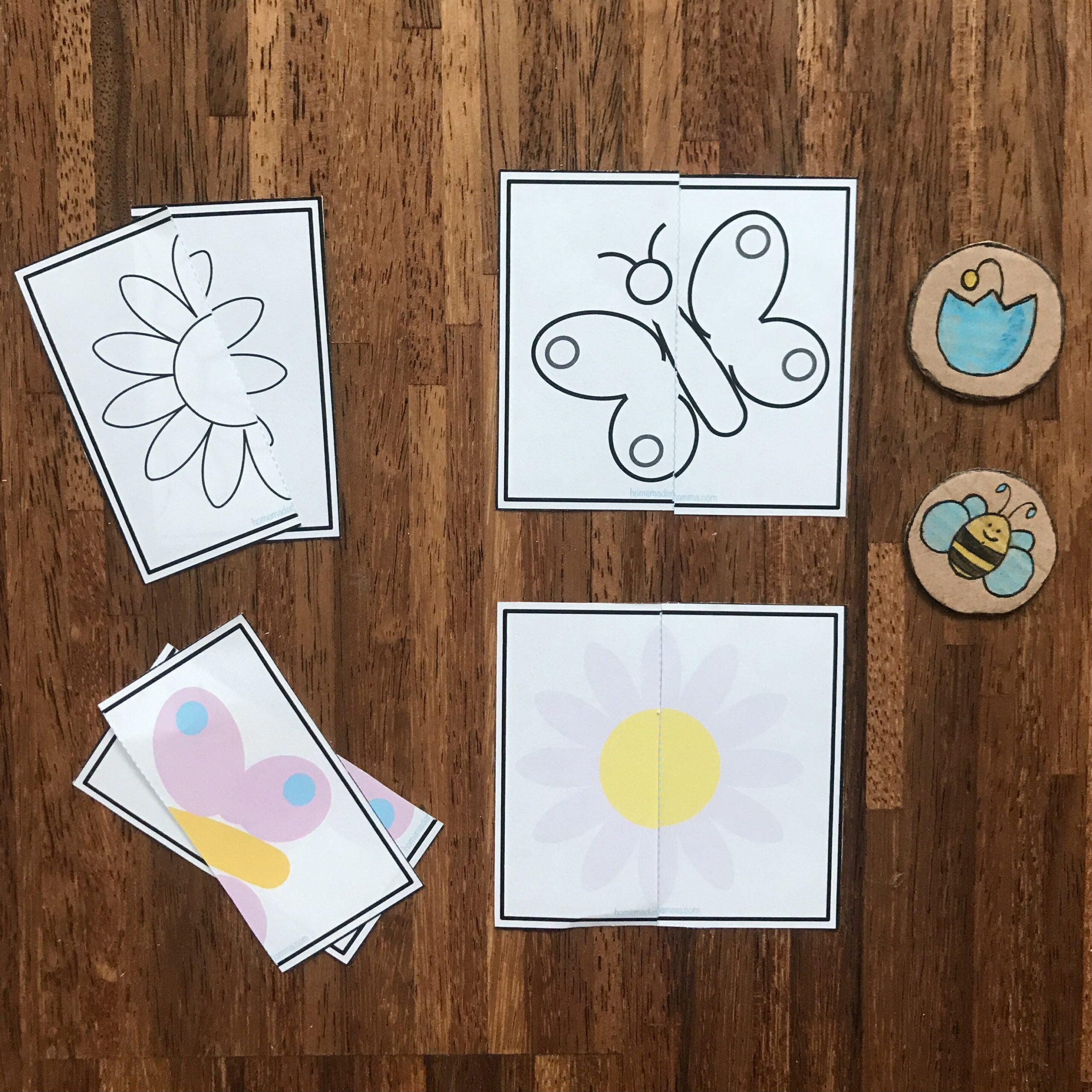 puzzle da colorare bambini scuola infanzia