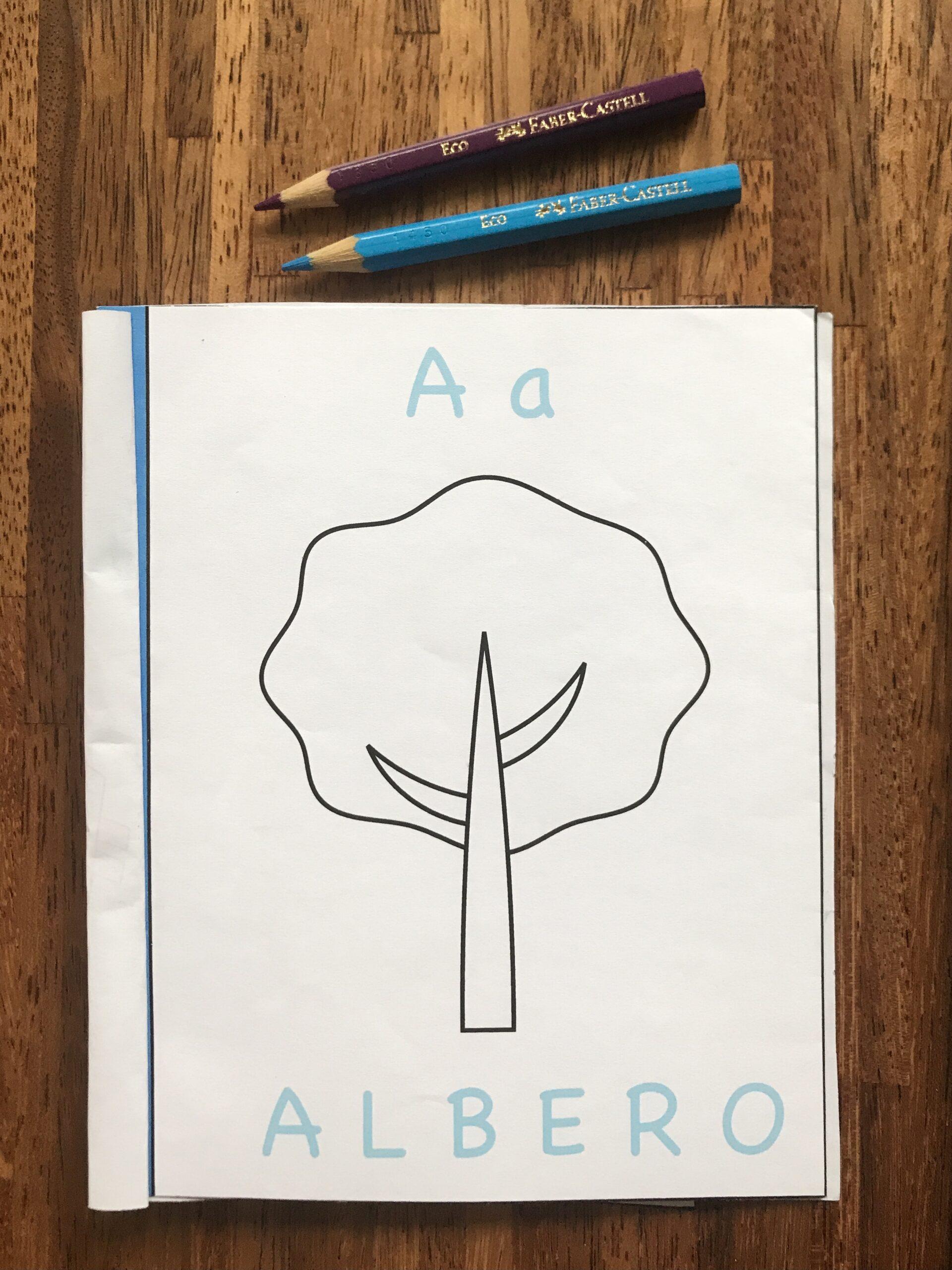 libro da colorare imparare alfabeto