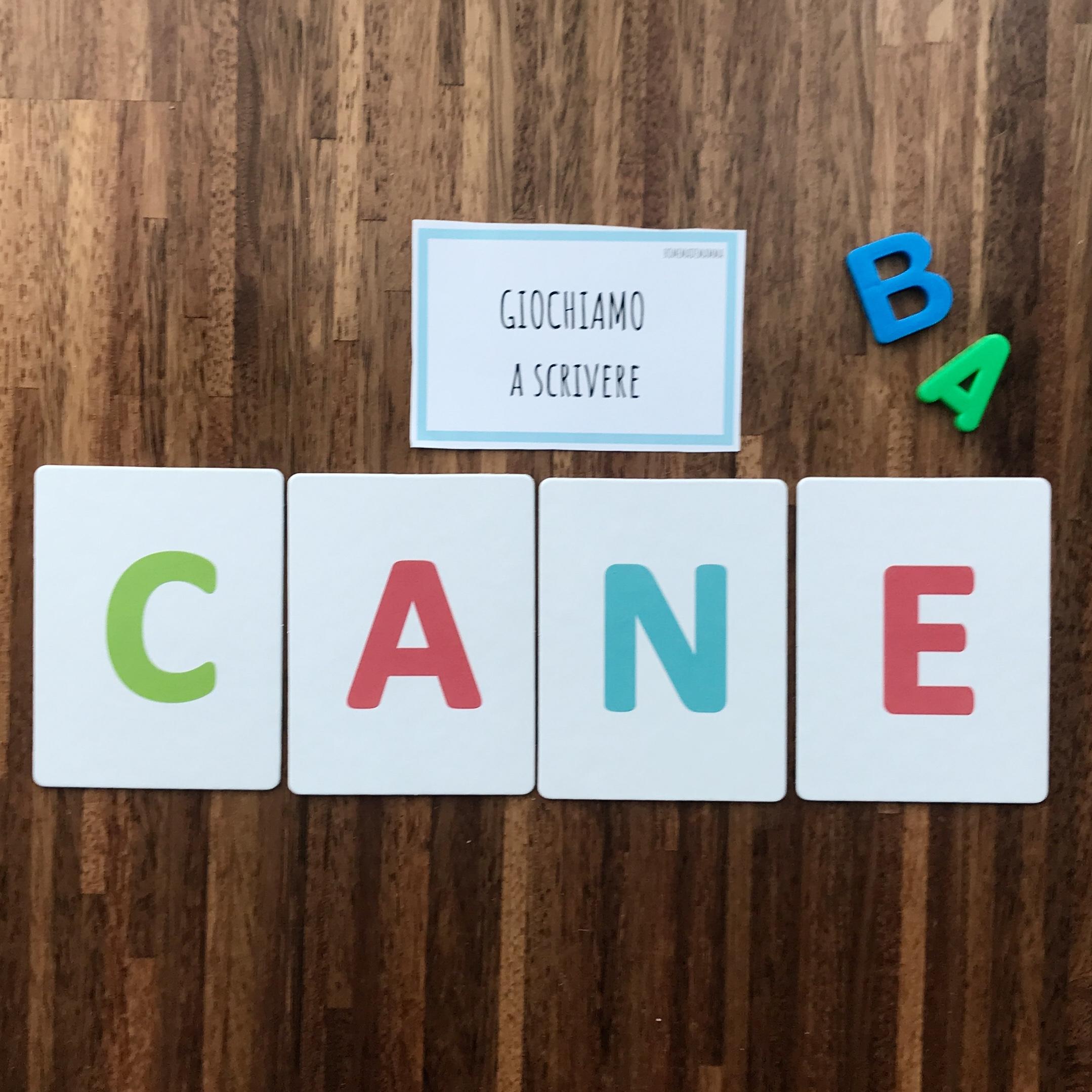 gioco headu flashcards montessori fonetiche tattili lettere alfabeto bambini