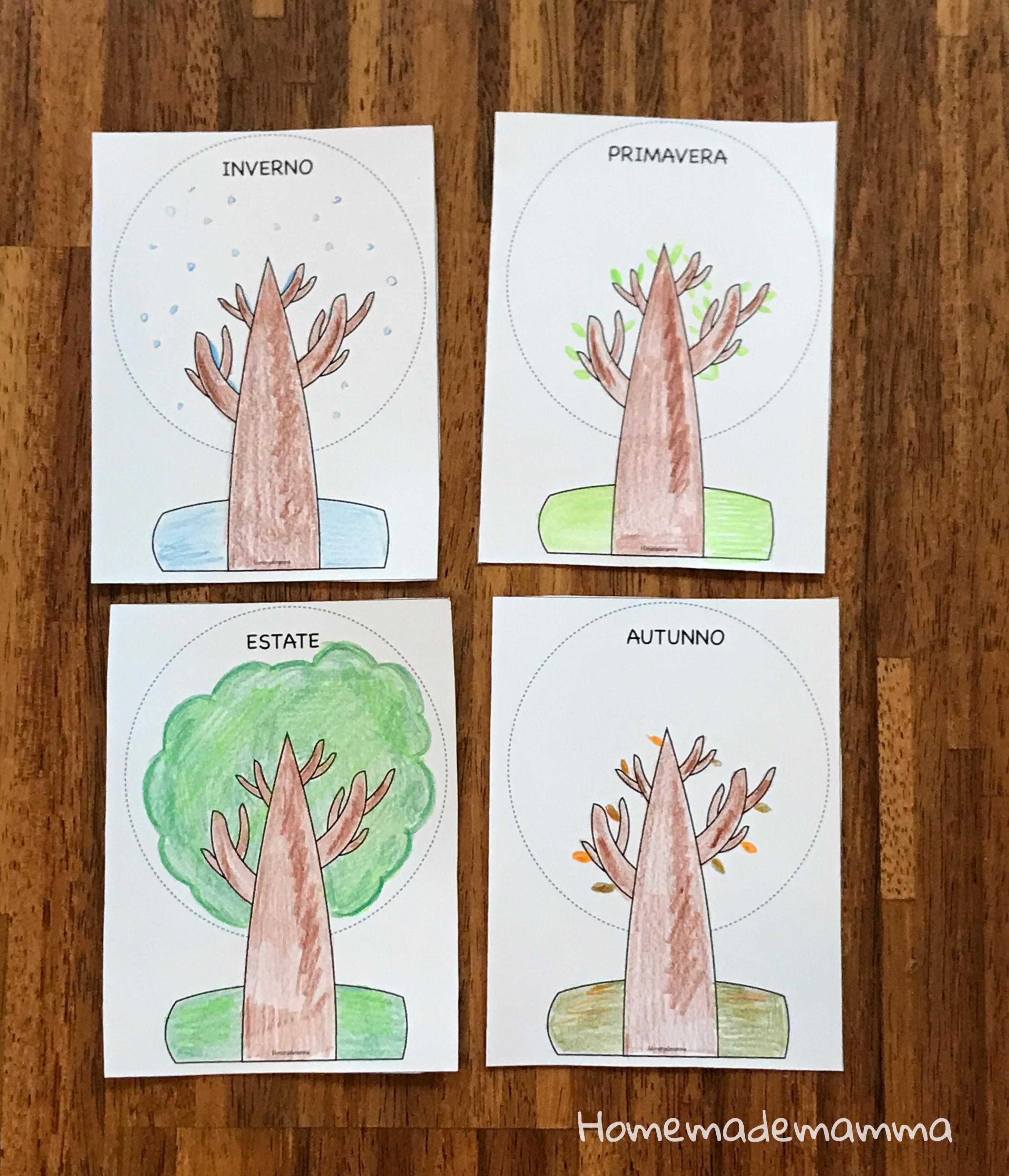 Scoprire le quattro stagioni schede attività