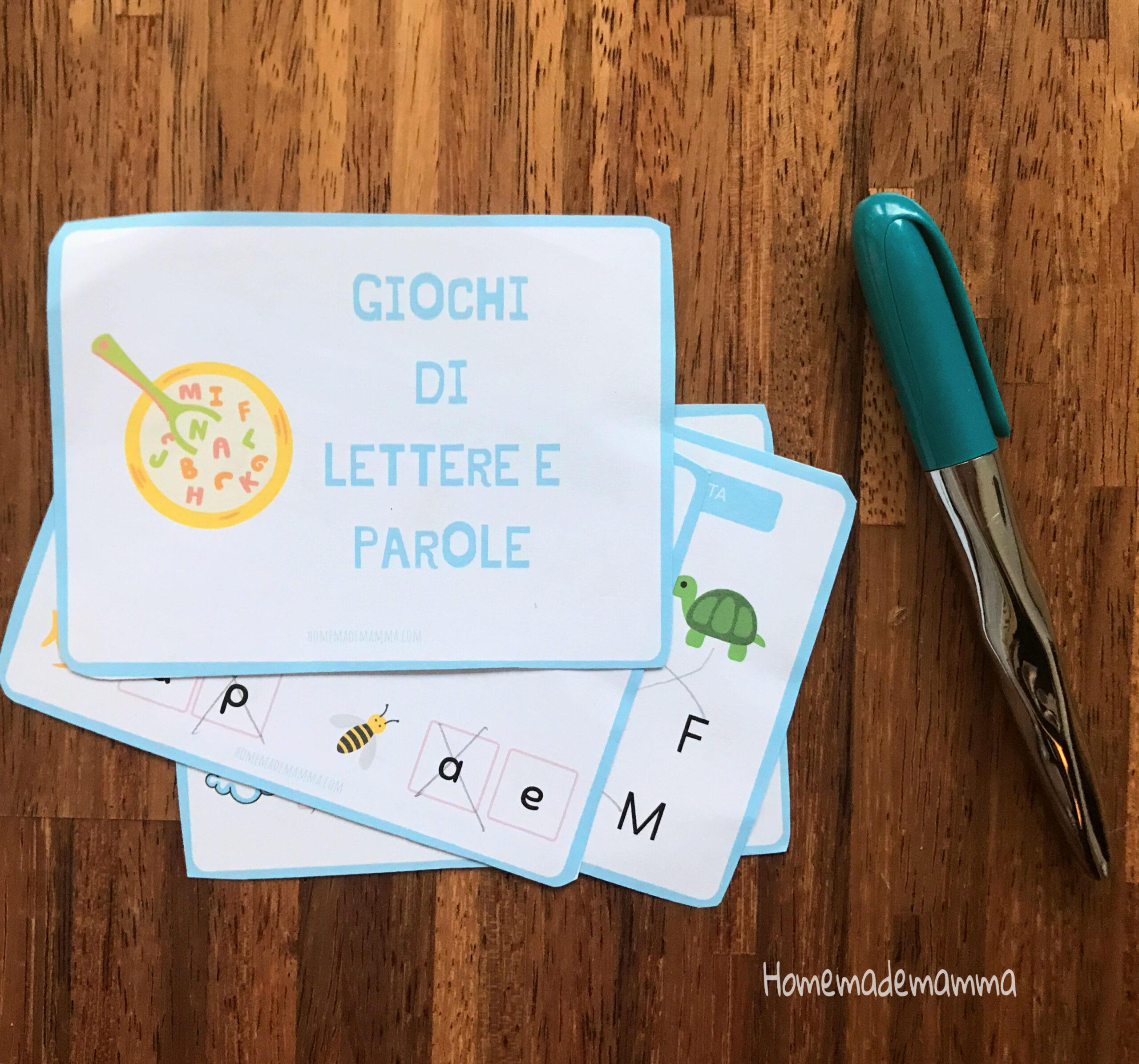Schede sulle lettere da stampare Per imparare a scrivere e a leggere