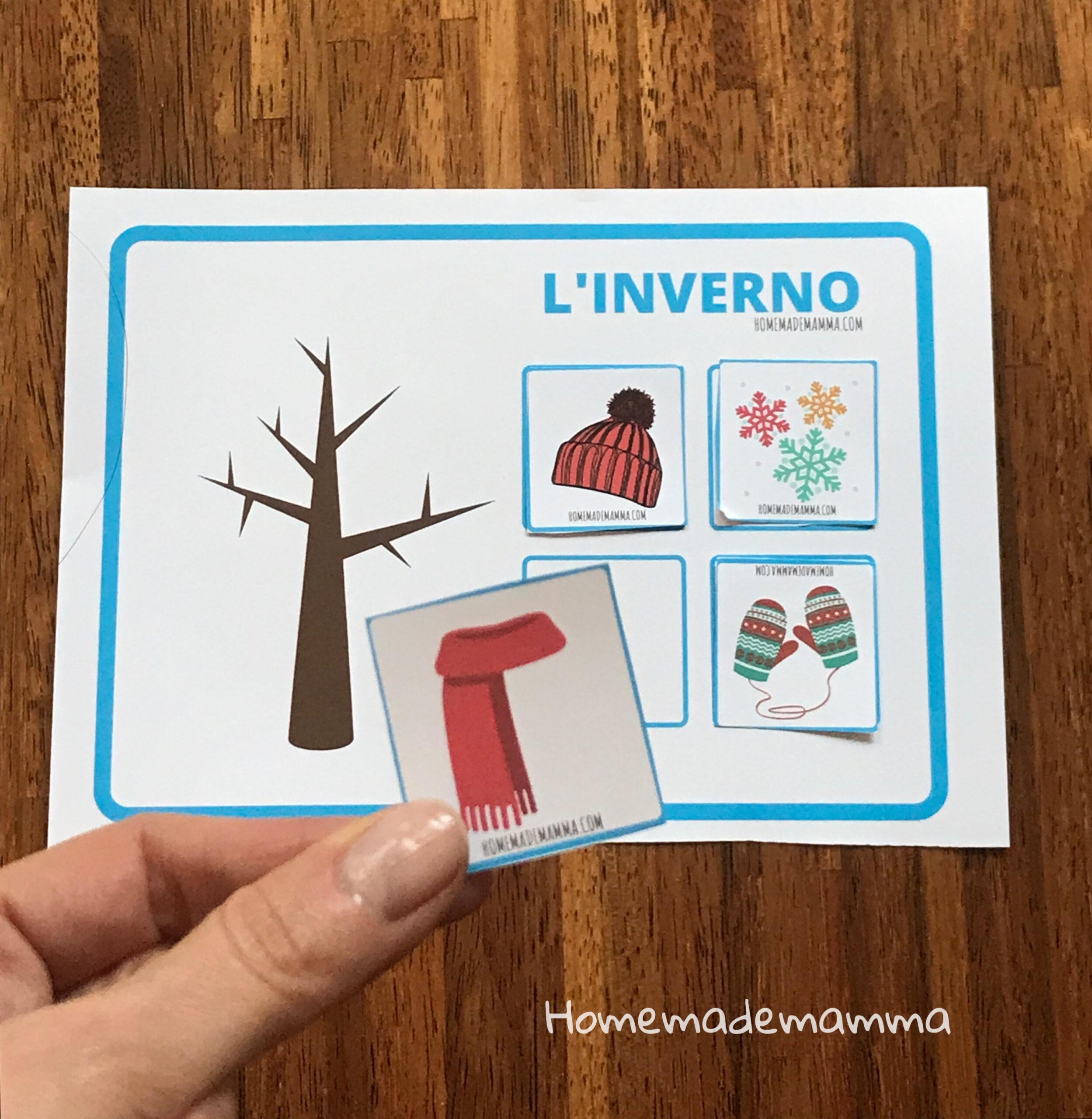 Scoprire le quattro stagioni schede Da stampare Scuola infanzia