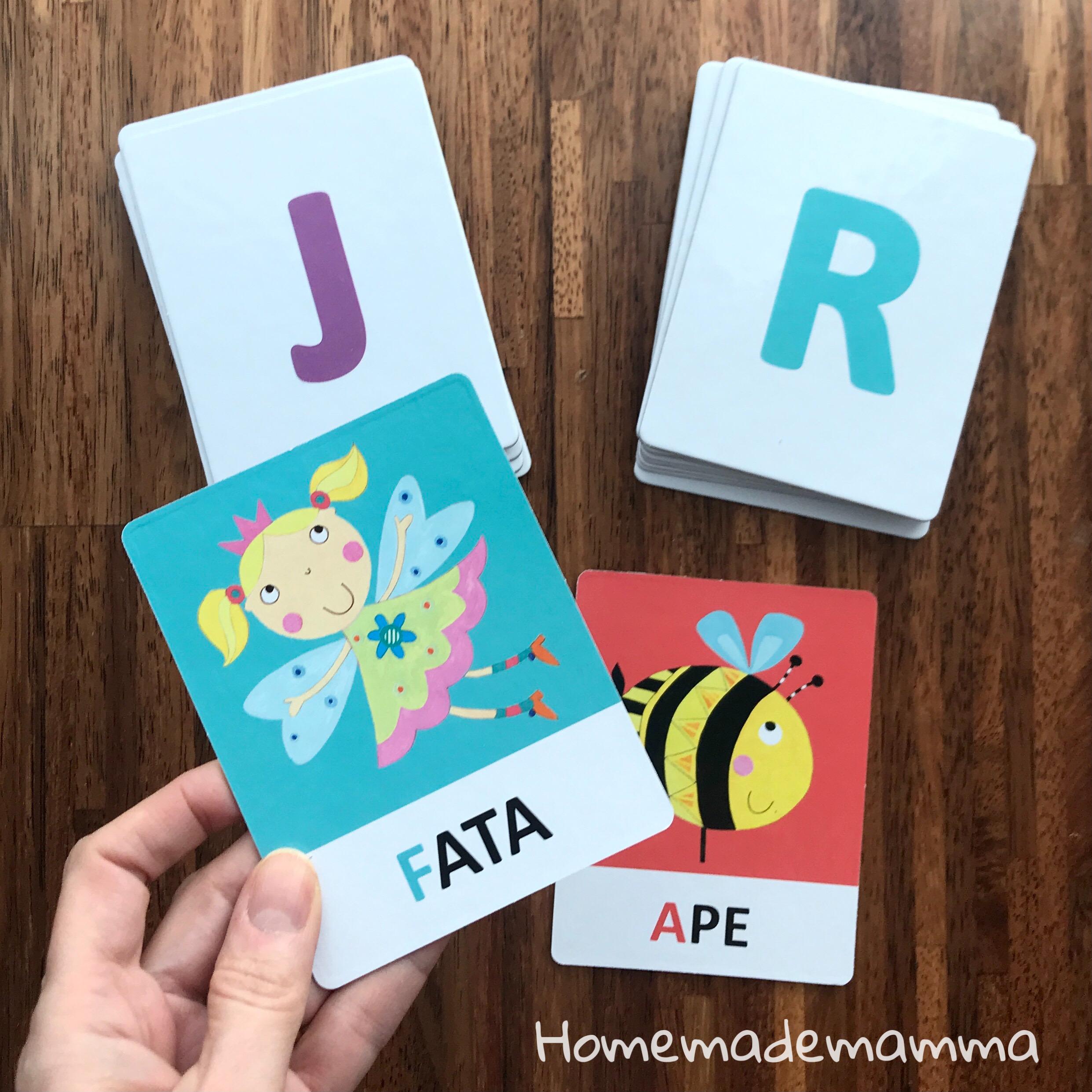 giochi headu flashcards montessori fonetiche ettere alfabeto