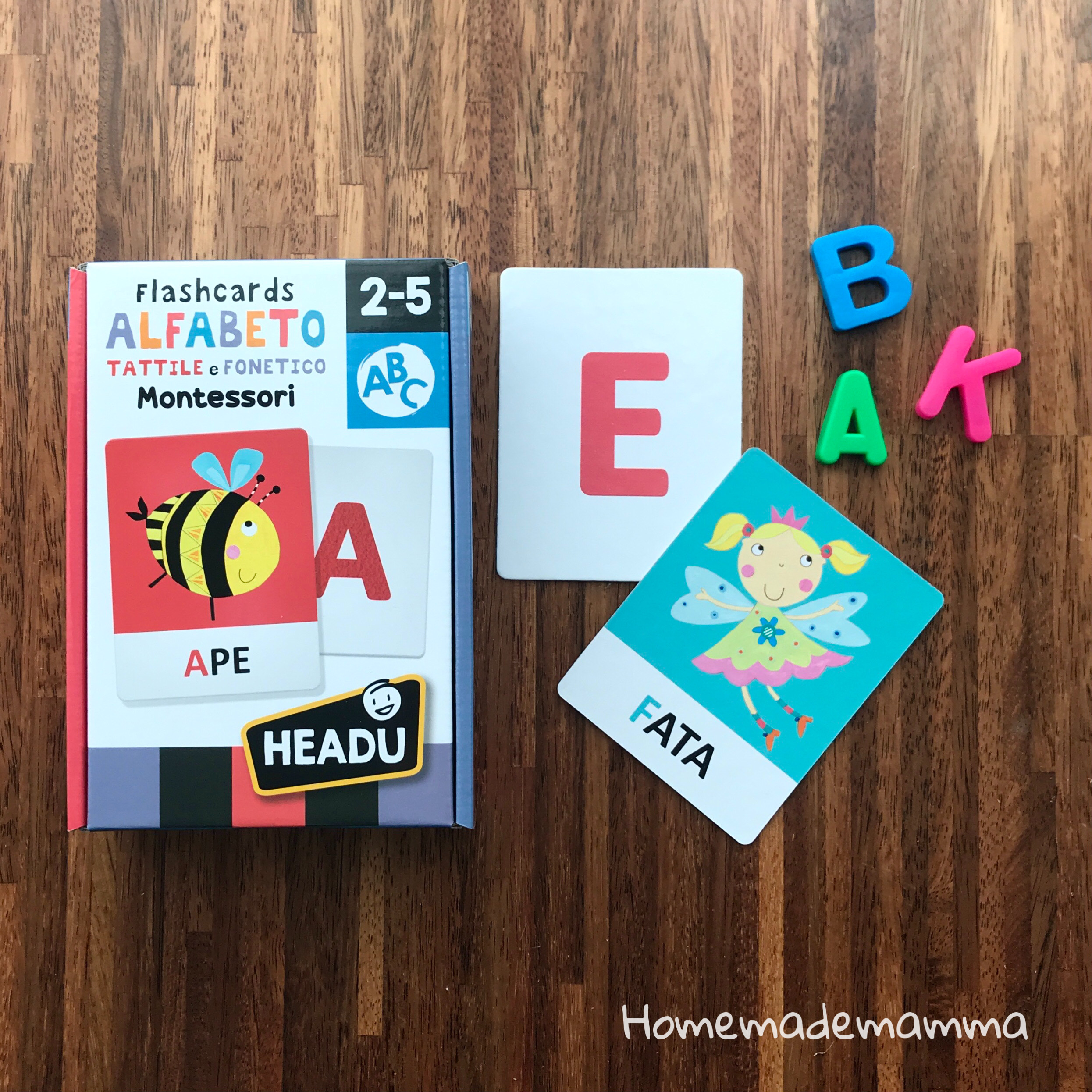giochi headu flashcards montessori fonetiche tattili lettere