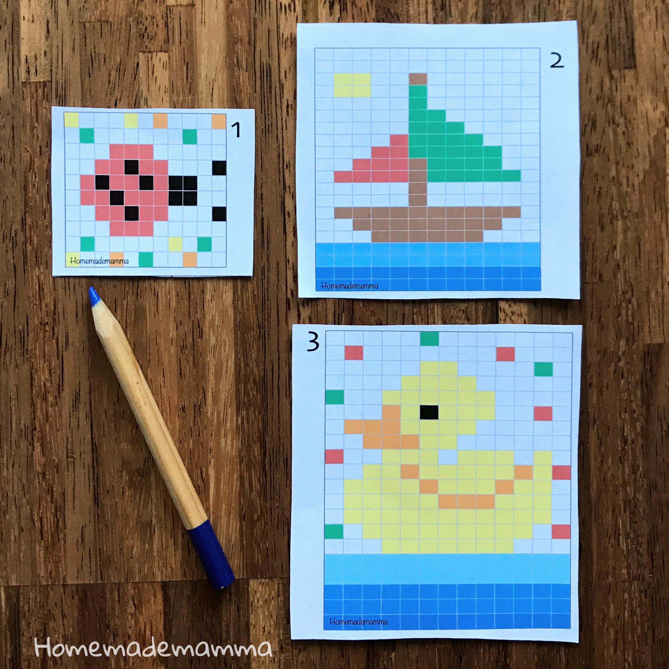 Schede Coding da colorare da stampare