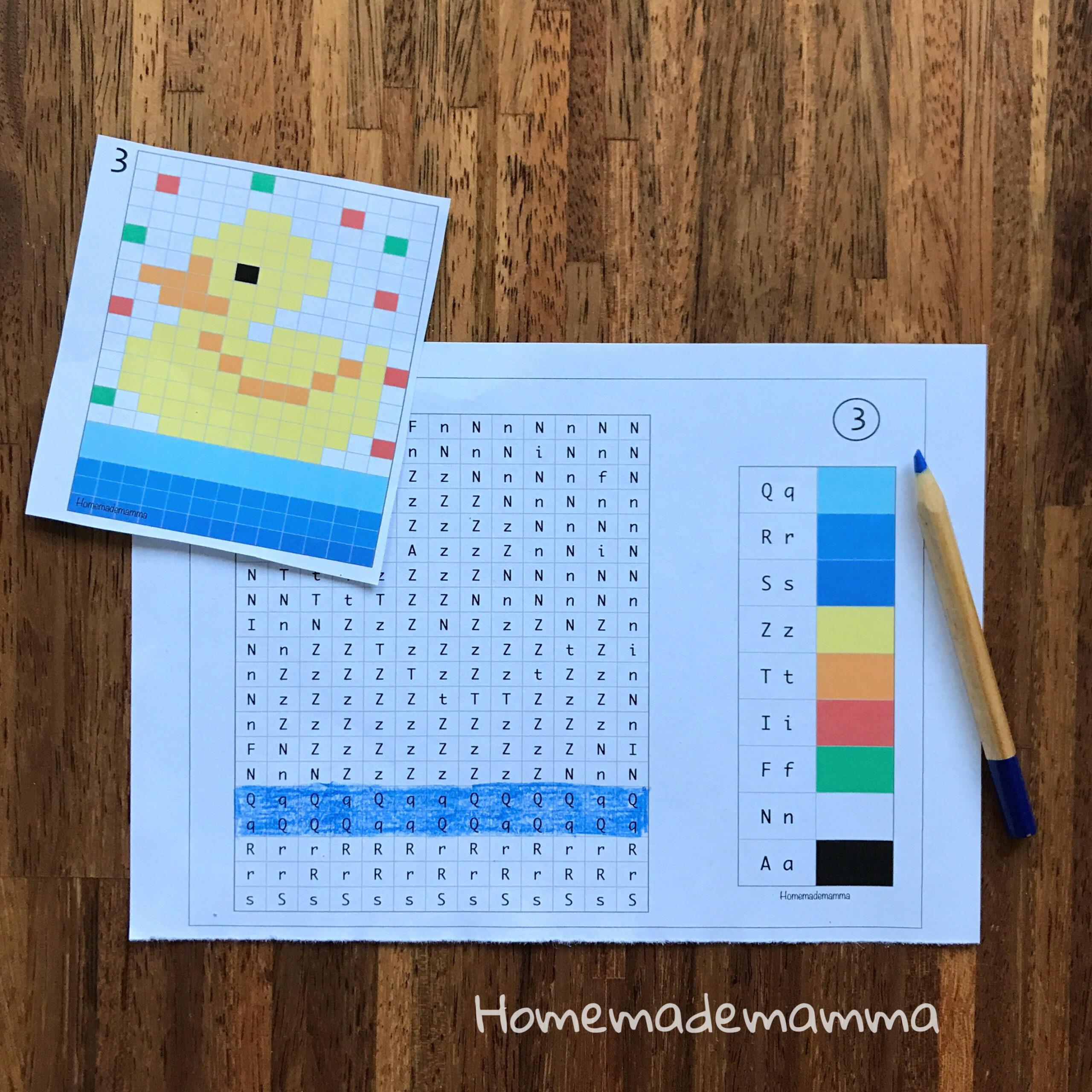Schede alfabeto da colorare da stampare