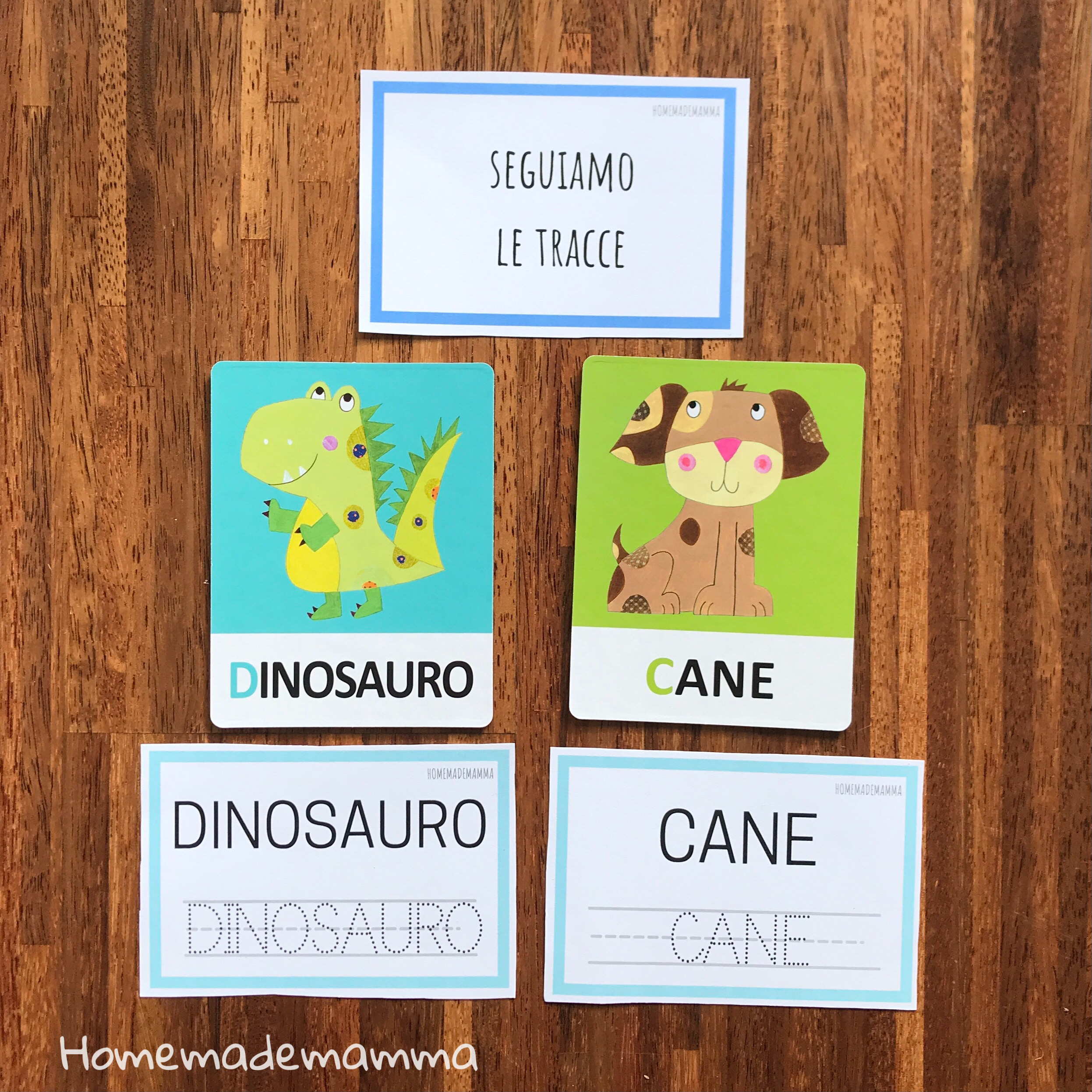 headu flashcards montessori lettere alfabeto