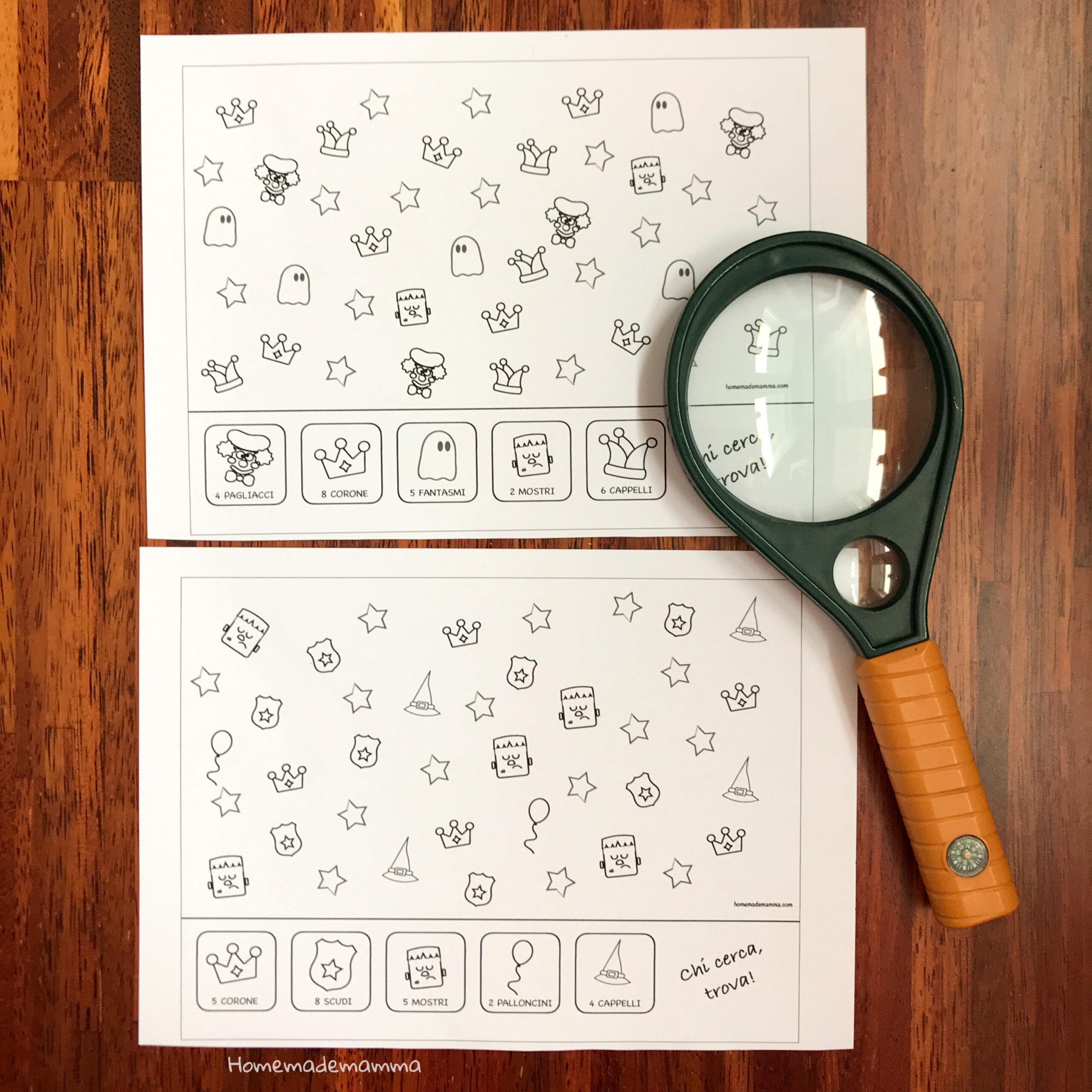 Gioco di carnevale da stampare Bambini