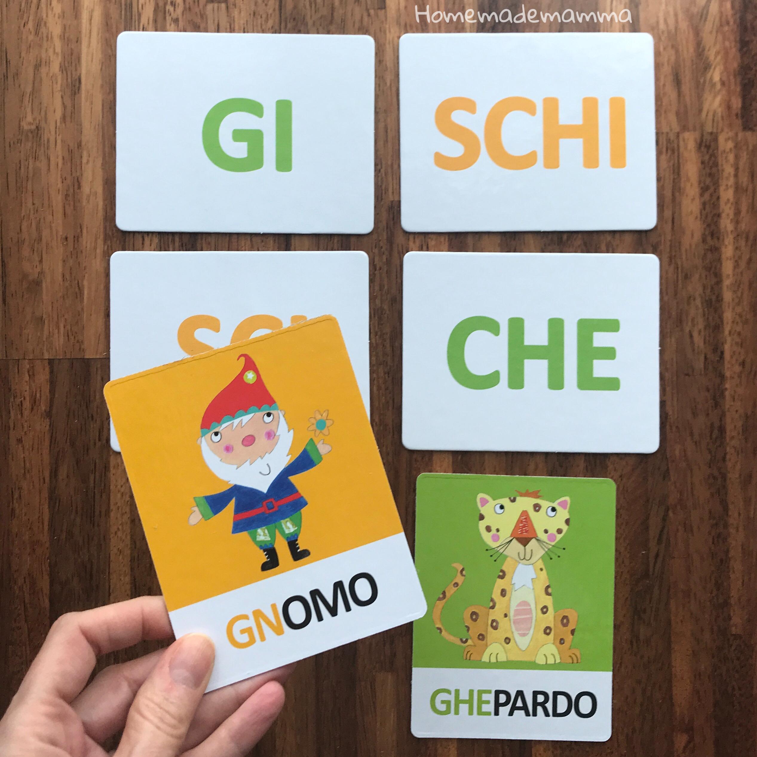 gioco headu flashcards montessori fonetiche tattili lettere bambini