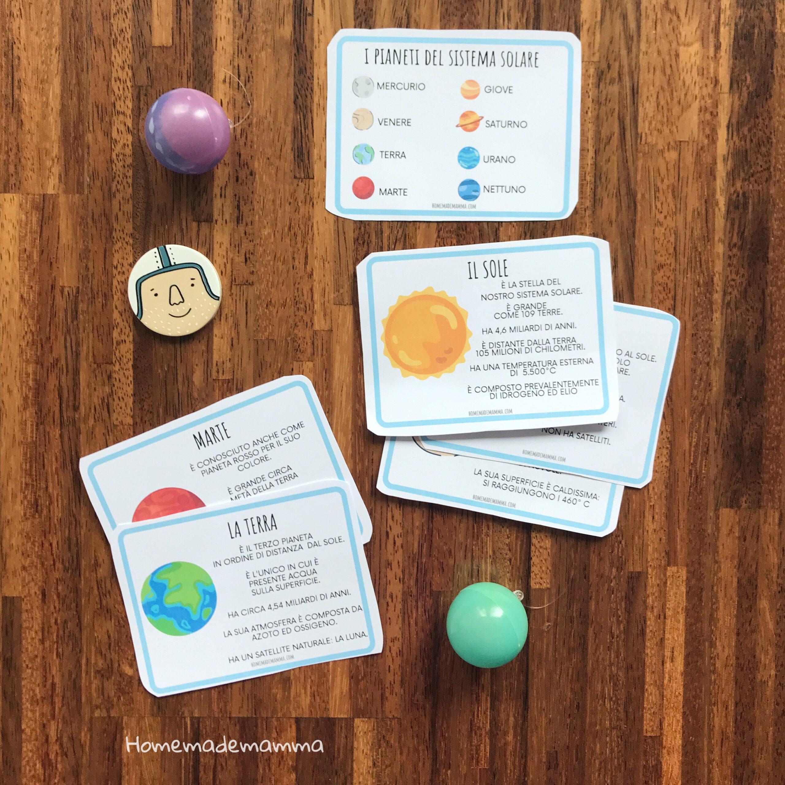 Libro da stampare sul sistema solare scuol