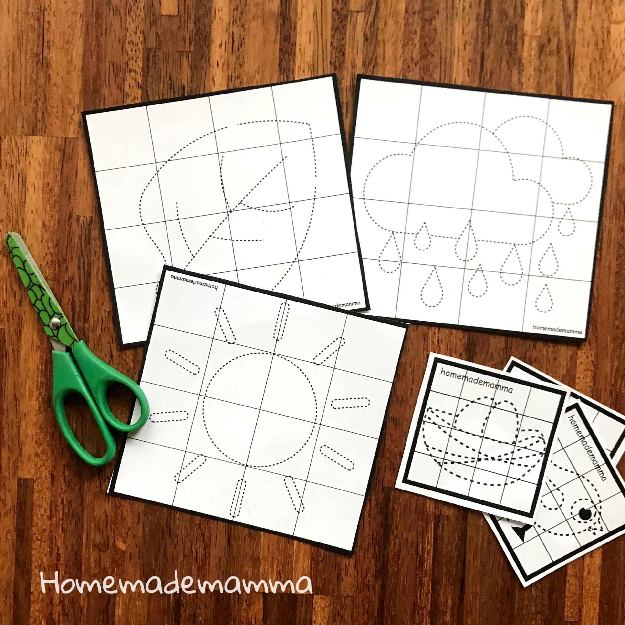 puzzle da colorare primavera scuola infanz