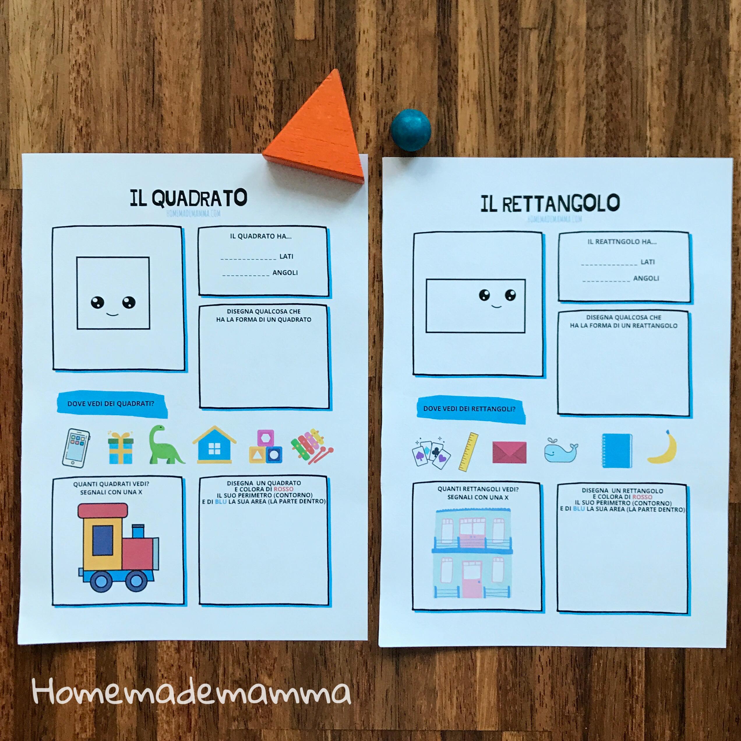 schede forme da stampare scuola
