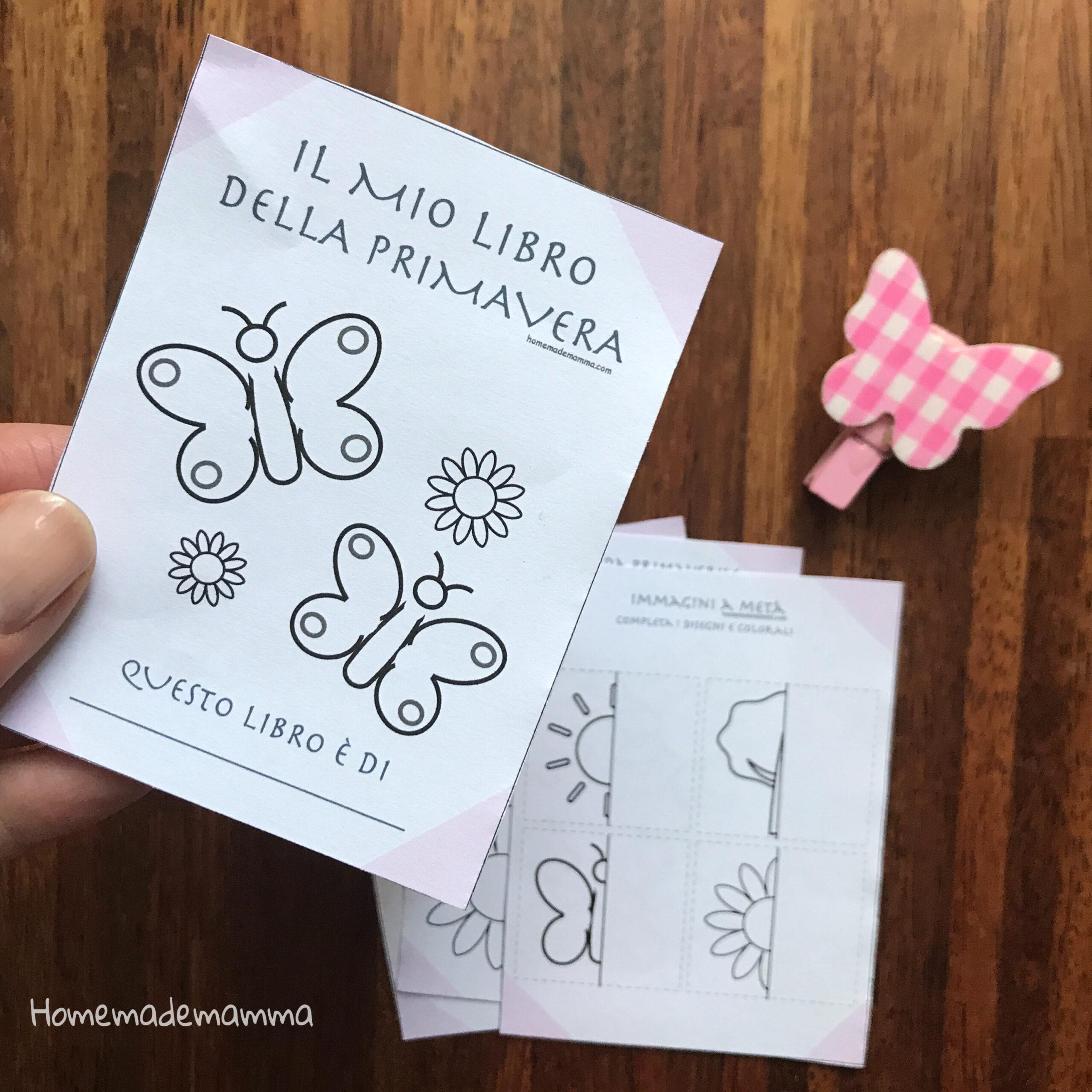 schede e attività bambini primavera da stampare