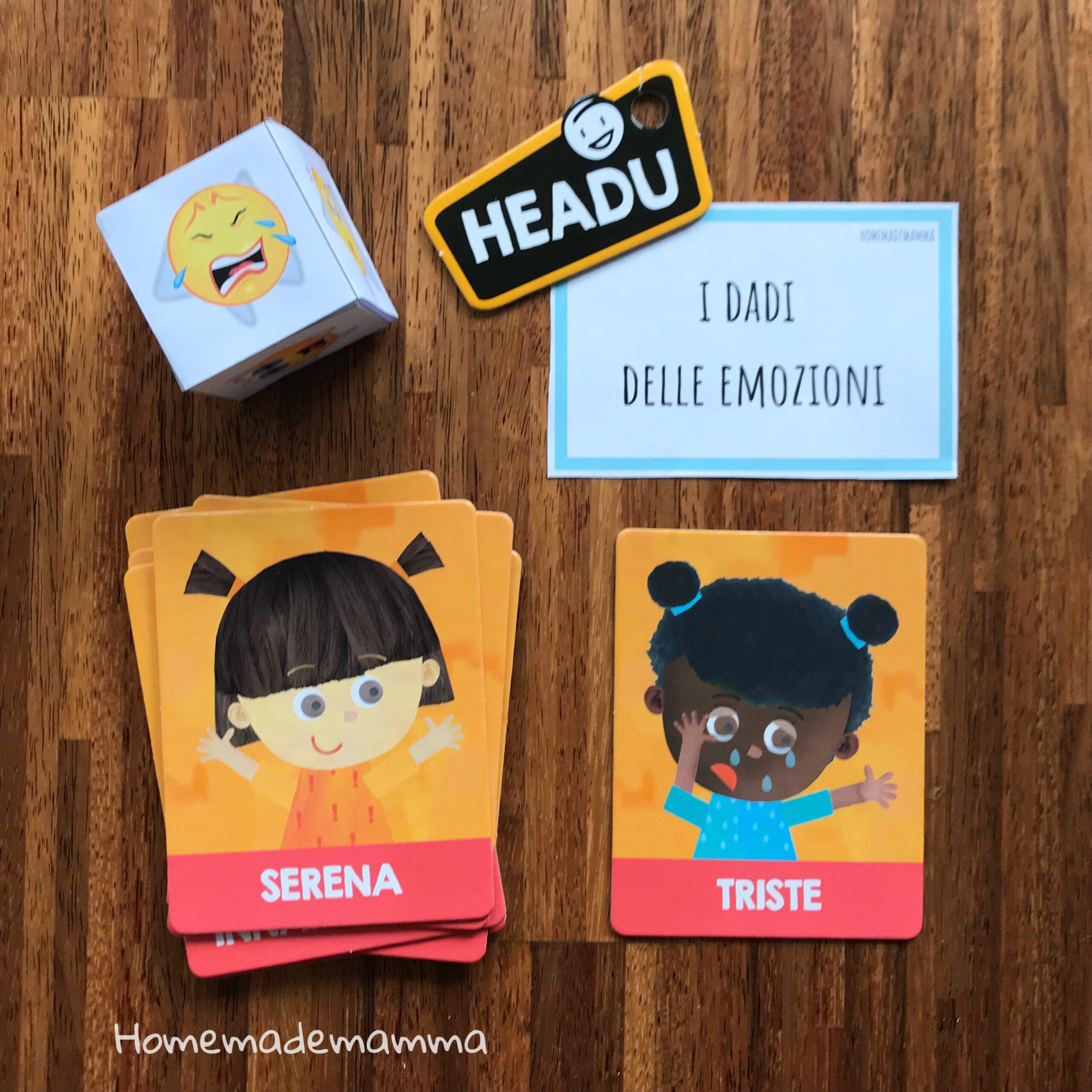 Gioco emozioni Montessori bambini Headu