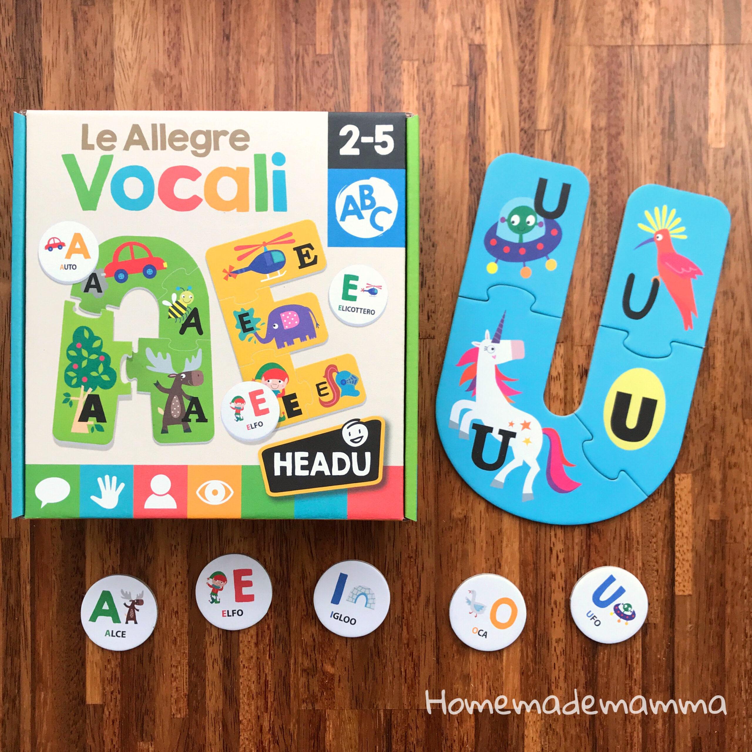 Headu allegre vocali gioco bambini come si gioca