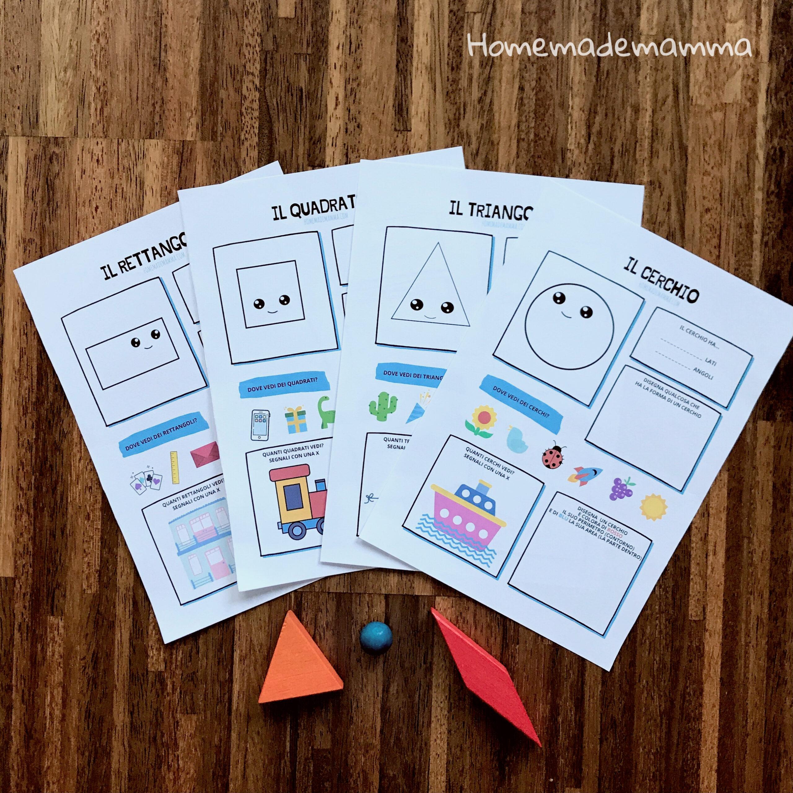 SCHEDE forme da stampare bambini