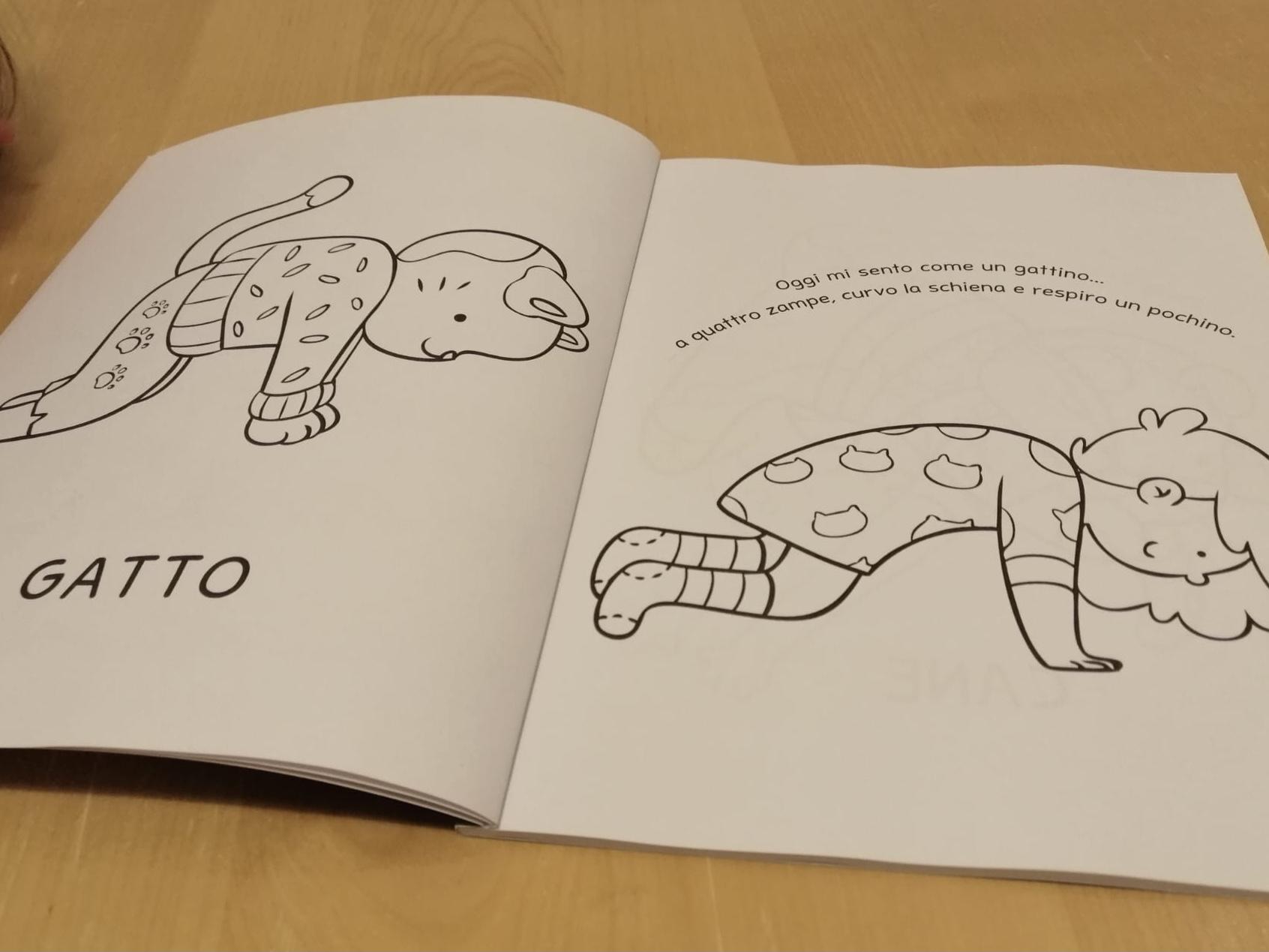 Libro Yoga da colorare per bambini