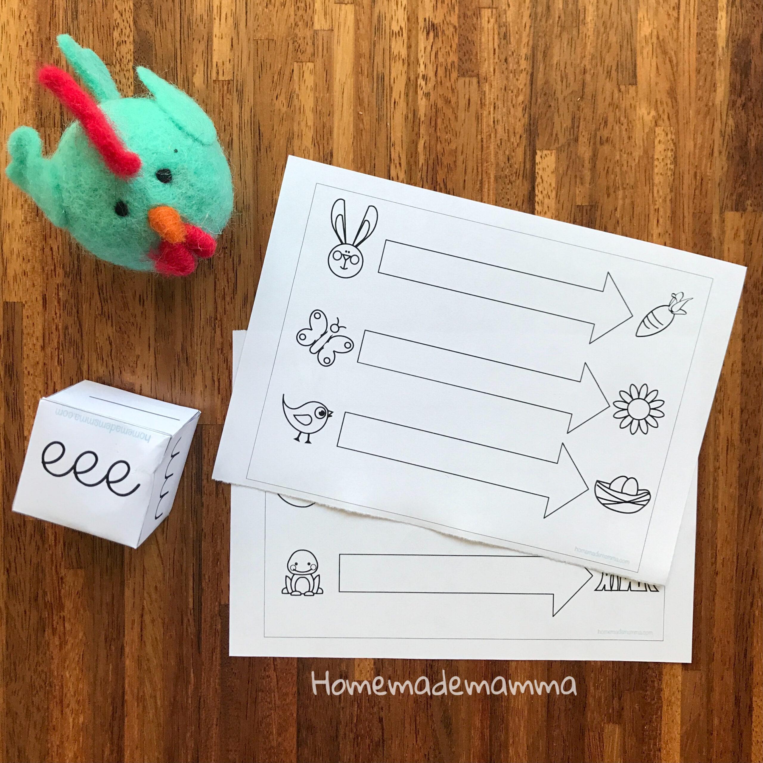 Gioco pregrafismo Pasqua Scuola infanzia