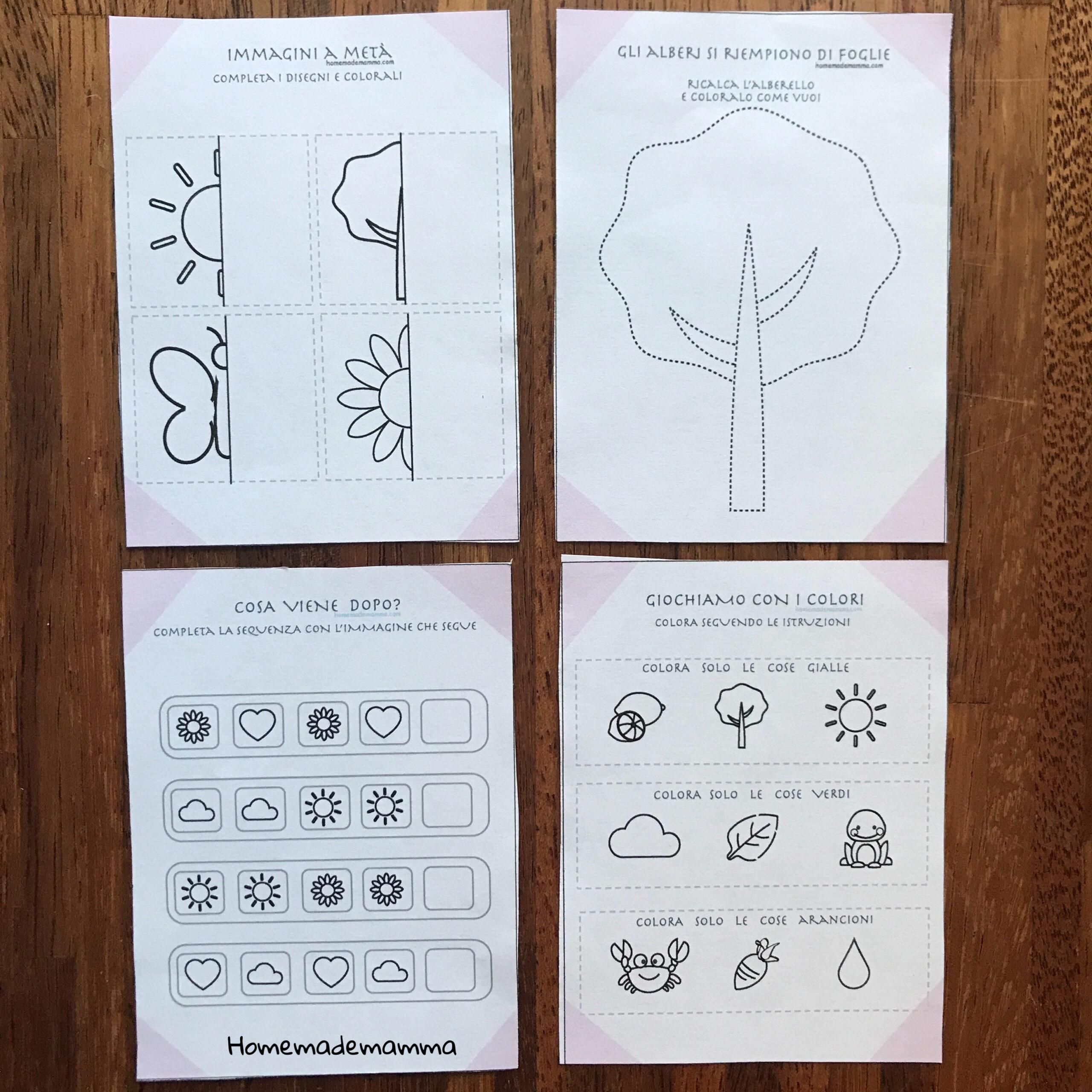 scuola infanzia schede e attività bambini primavera da stampare