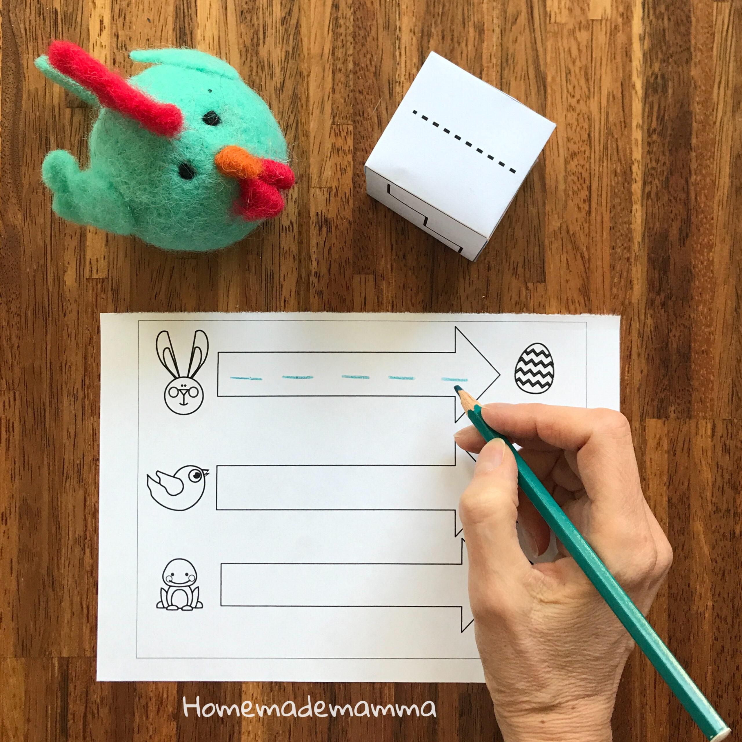 Gioco pregrafismo Pasqua Scuola infanzia Bambini