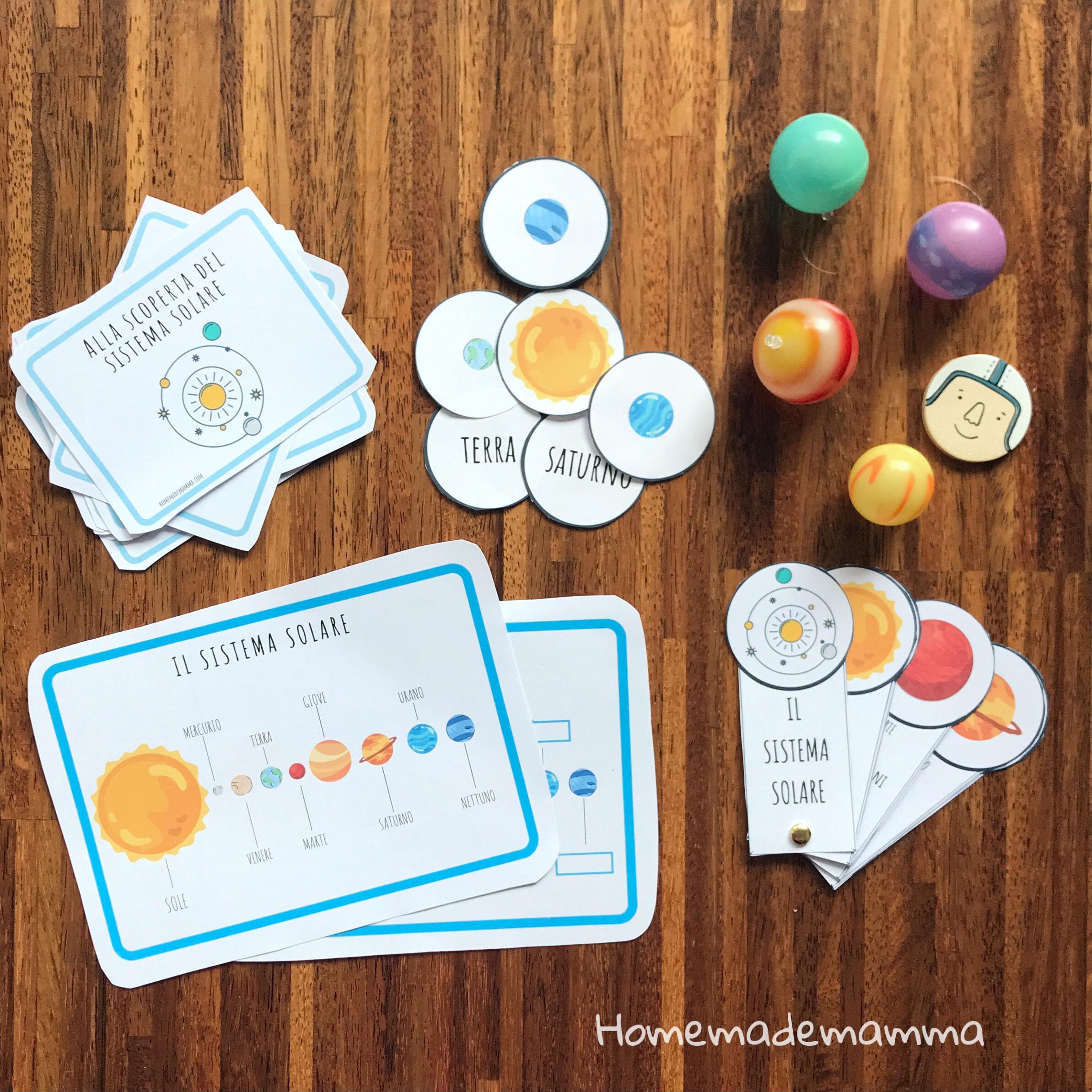 attivita stampare sul sistema solare scuola primaria
