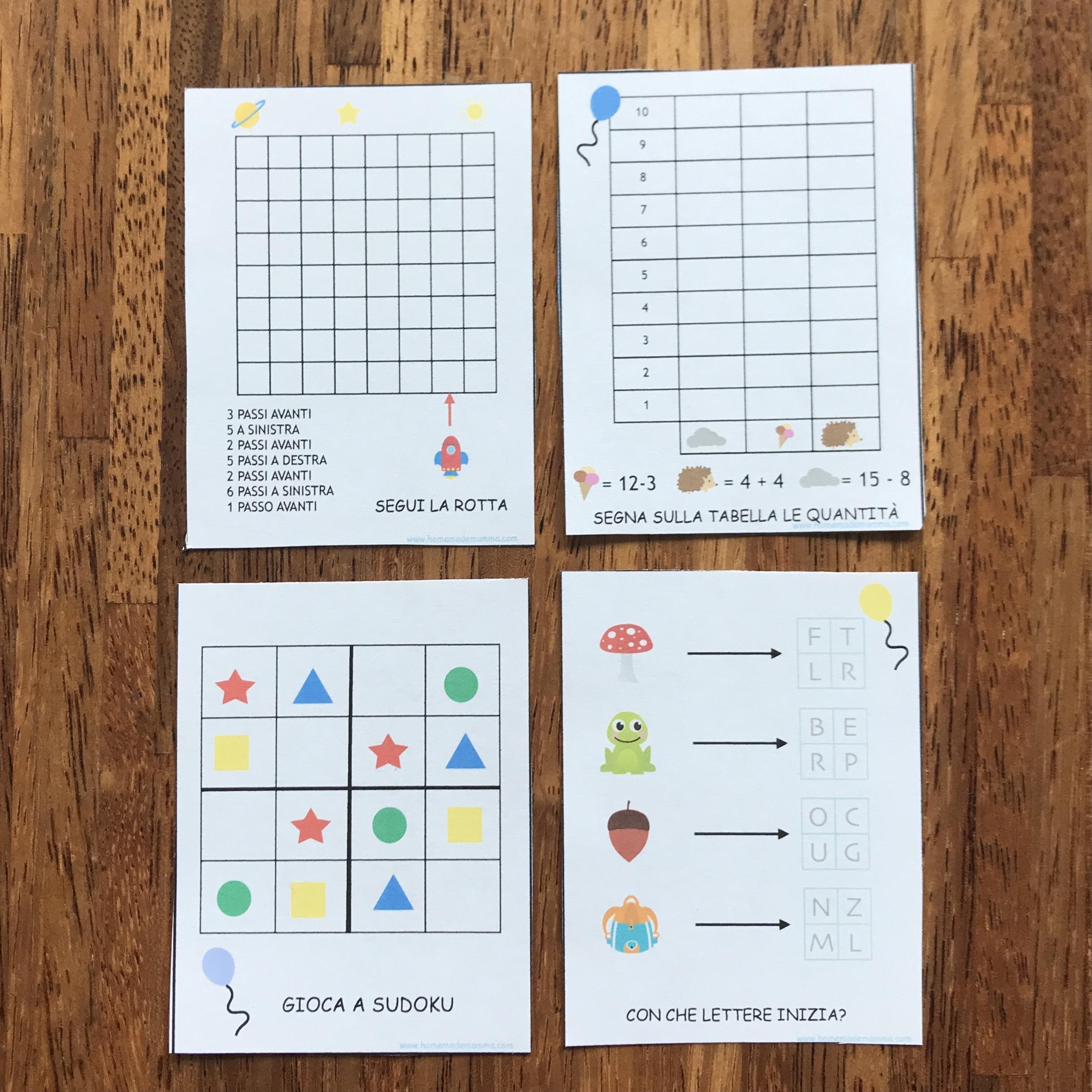 giochi attività bambini scuola primaria da stampare
