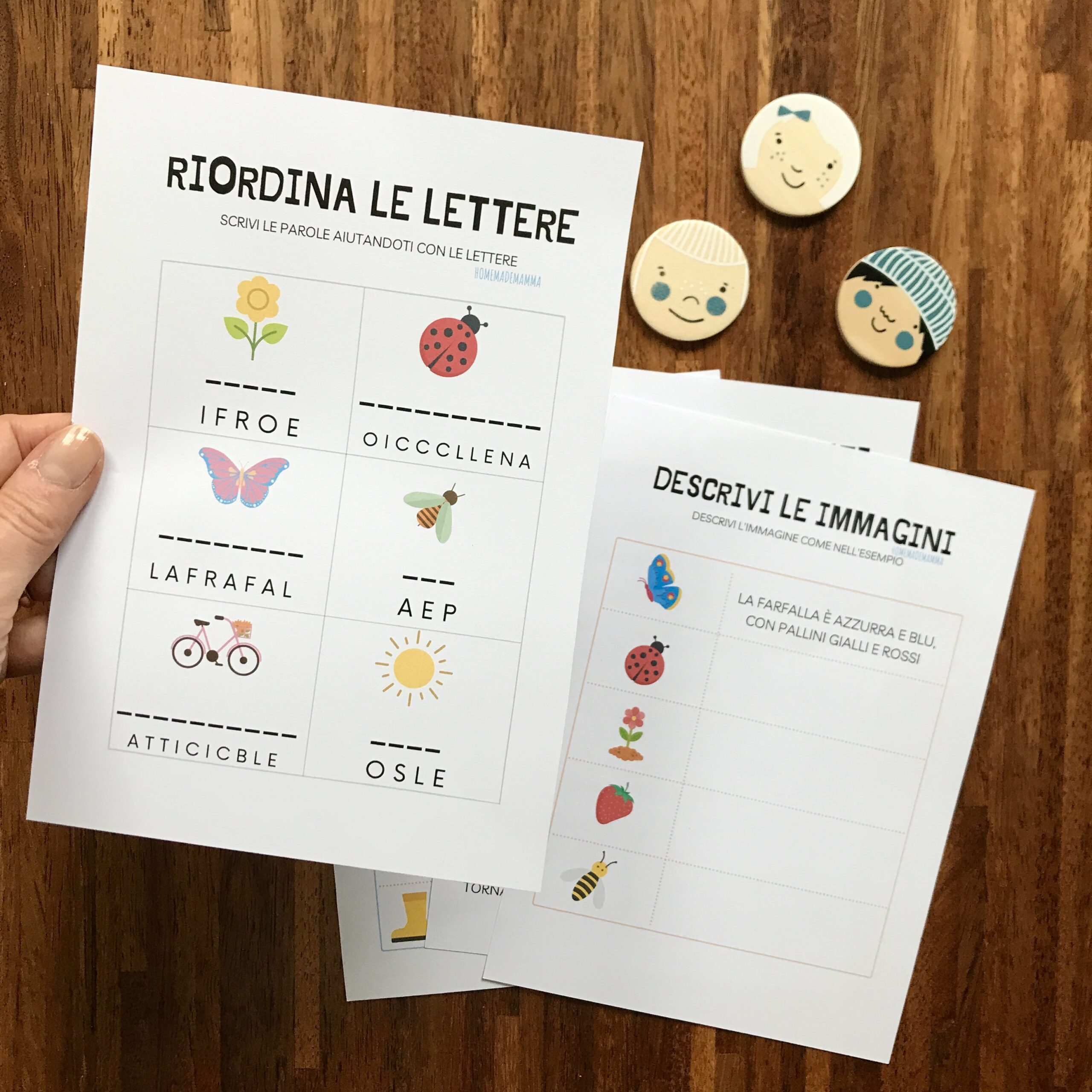 schede didattiche di italiano da stampare sulla primaverada stampare