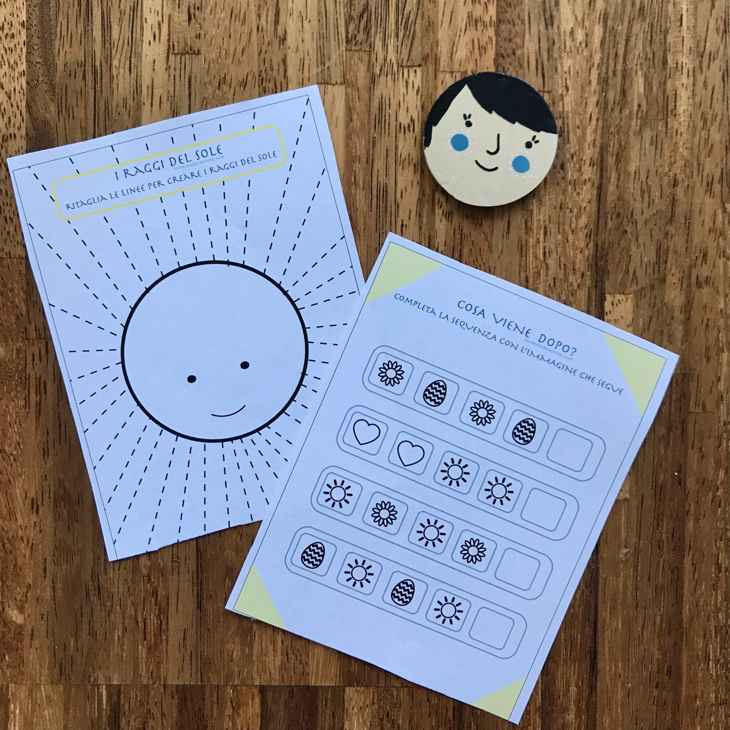 Pasqua attività giochi stampare scuola infanzia