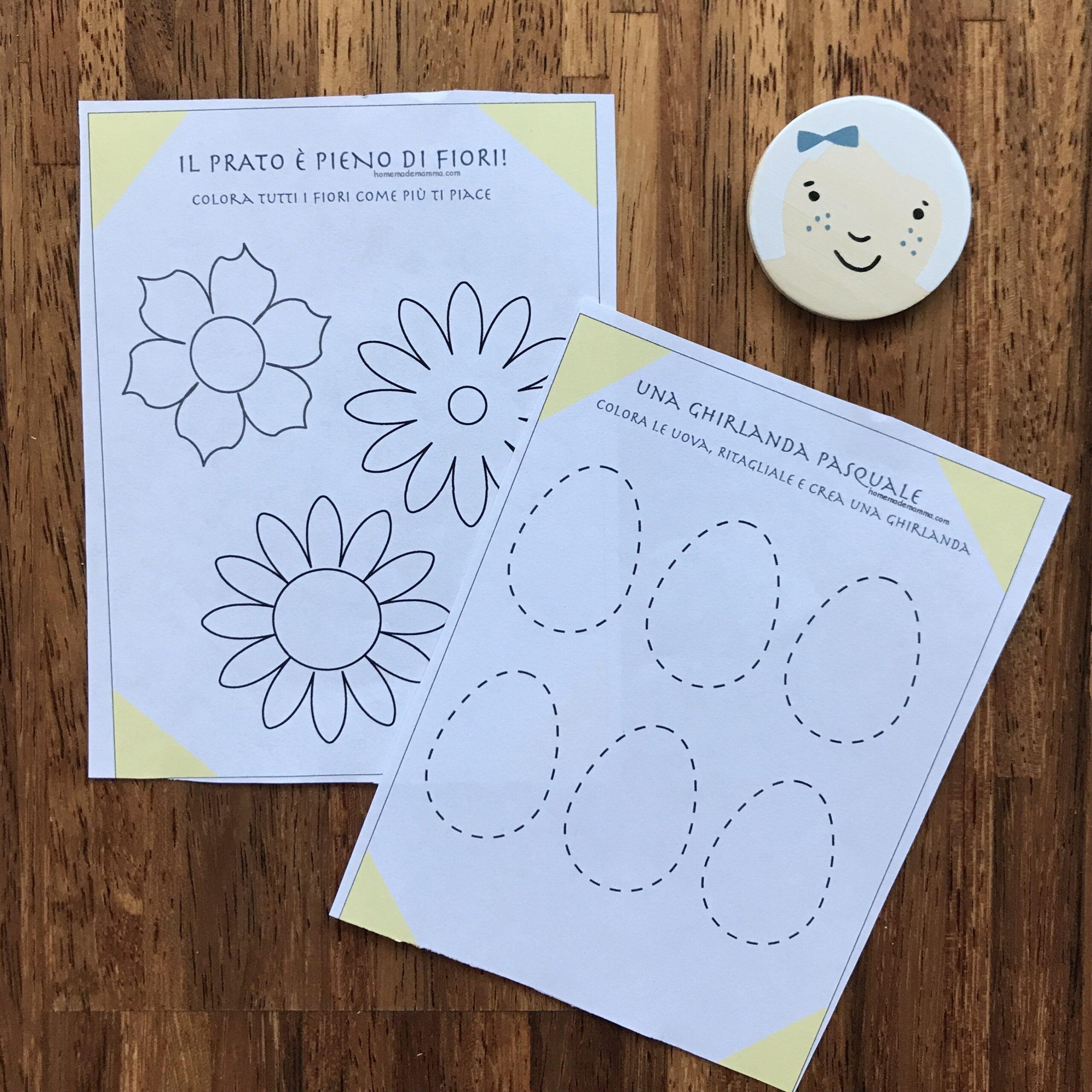 Pasqua attività giochi memory stampare colorare scuola infanzia