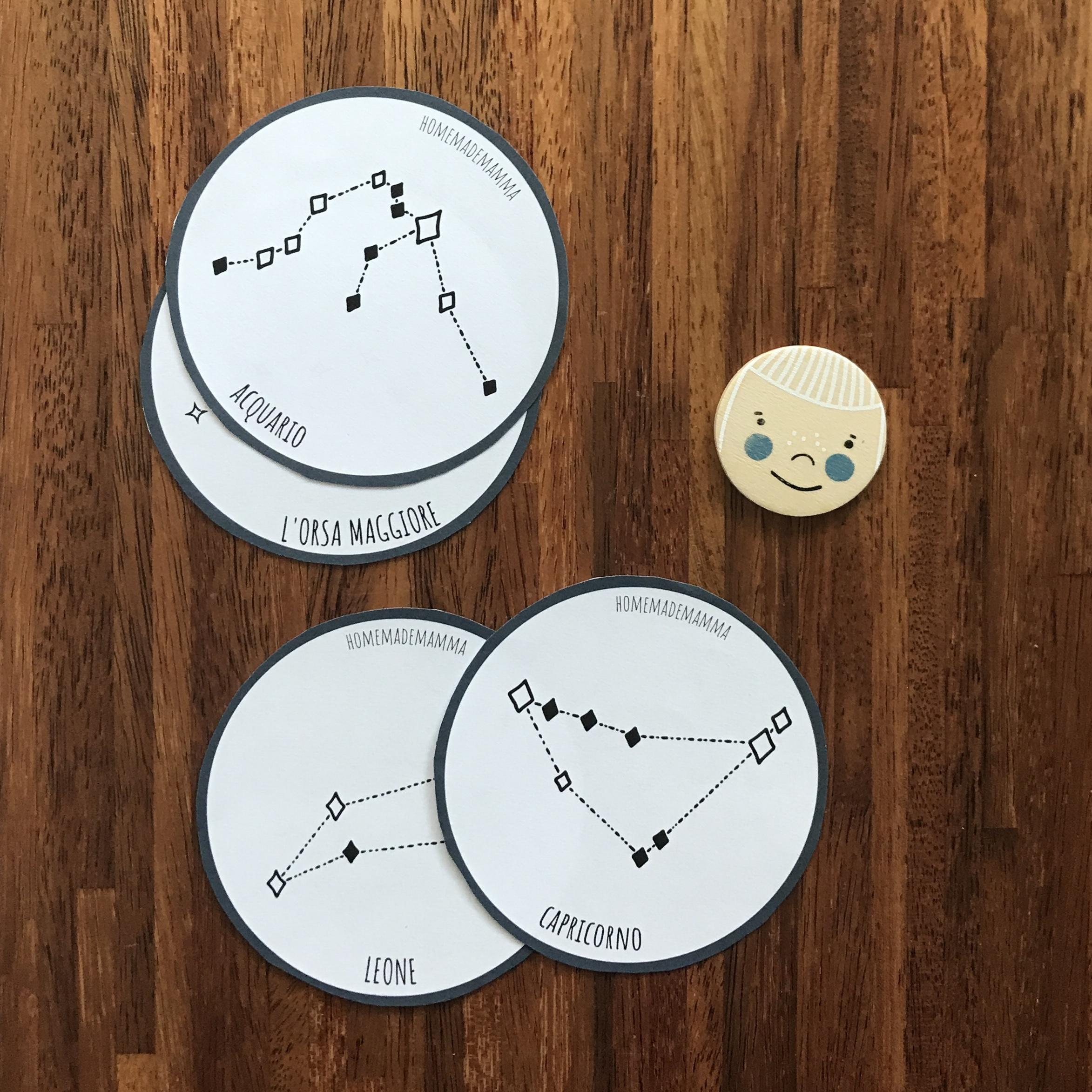Scoprire stelle costellazioni schede bambini Da stampare